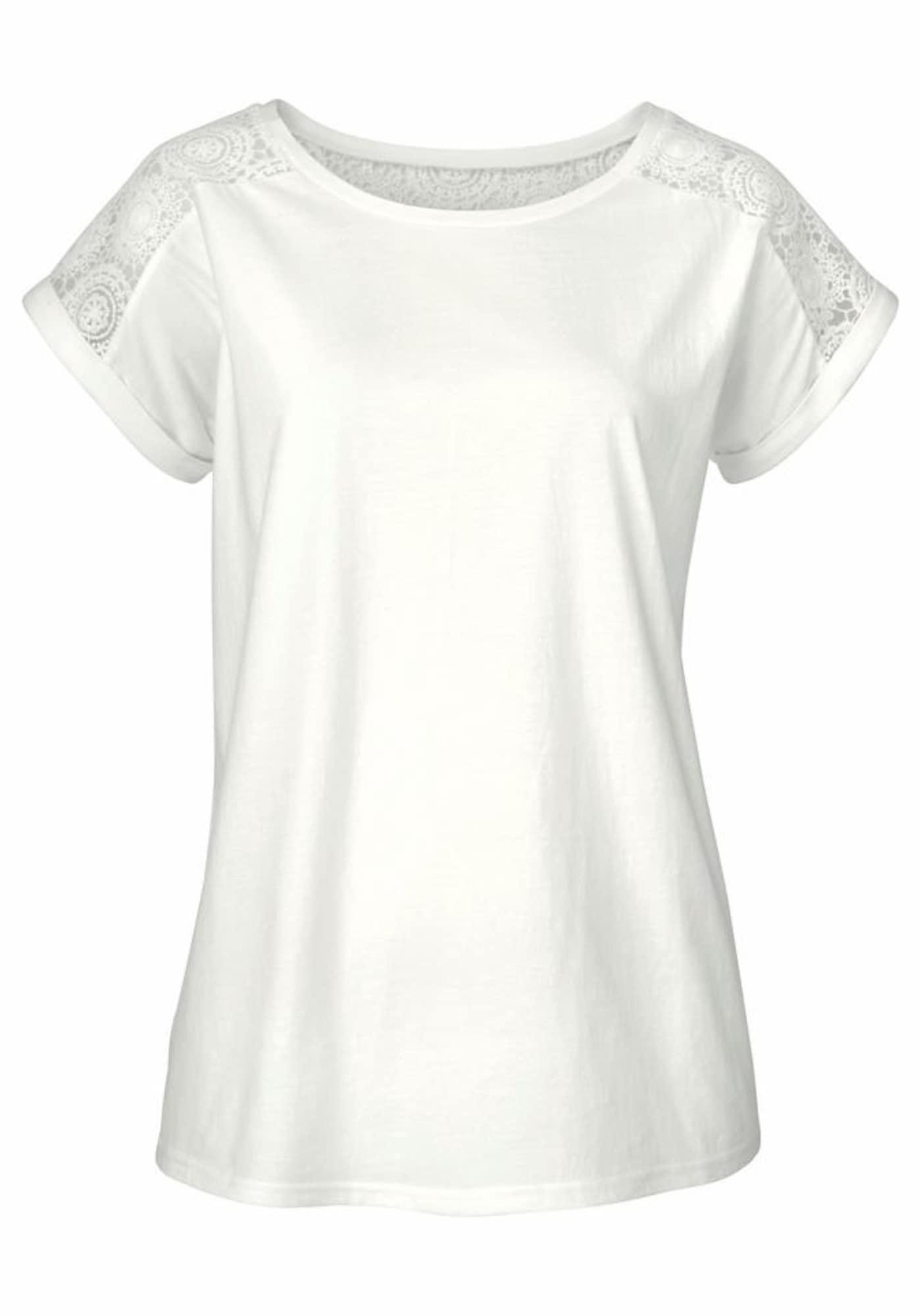 VIVANCE Tričko  prírodná biela