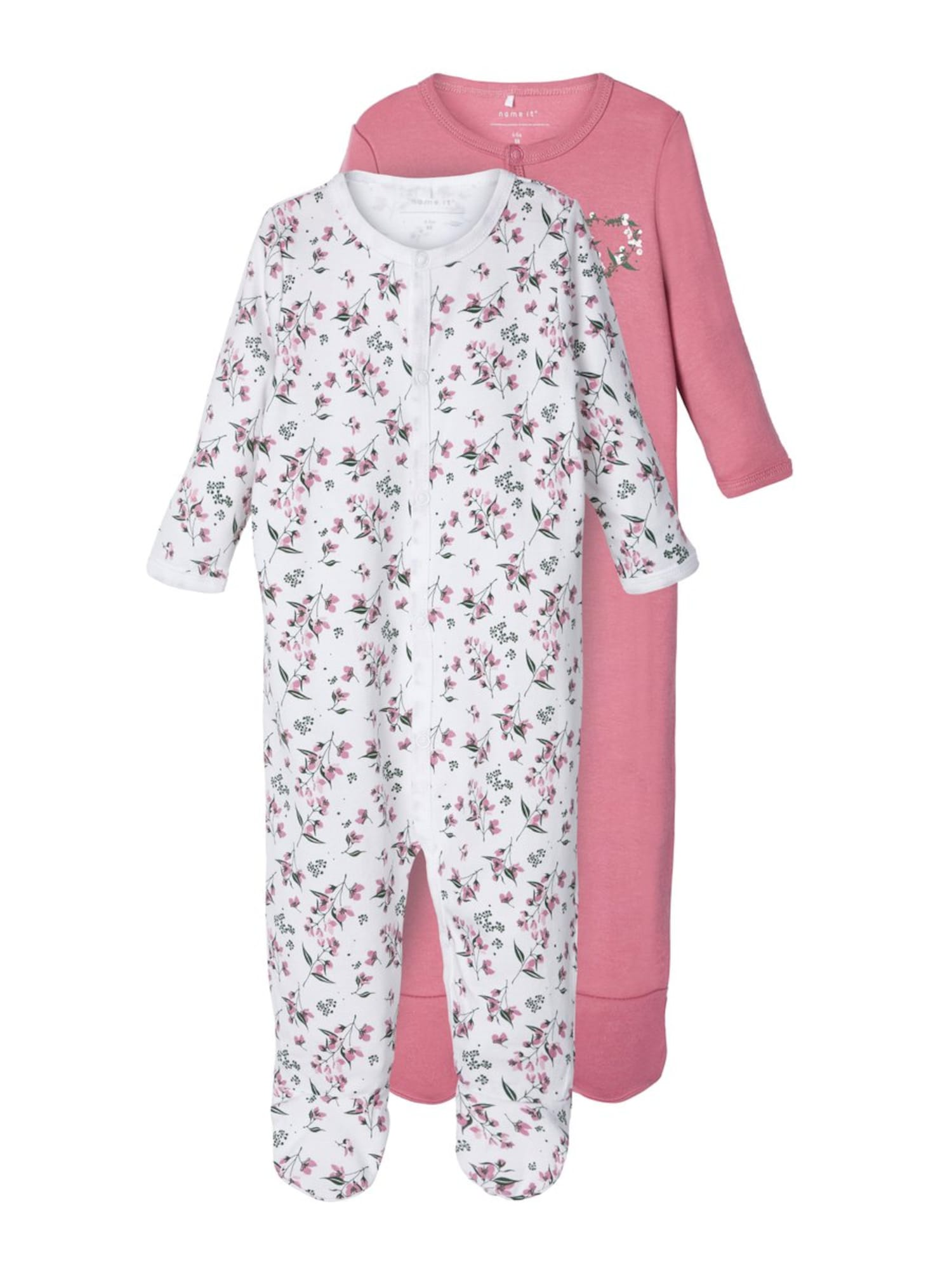 NAME IT Pyžamo  zelená / rosé / biela