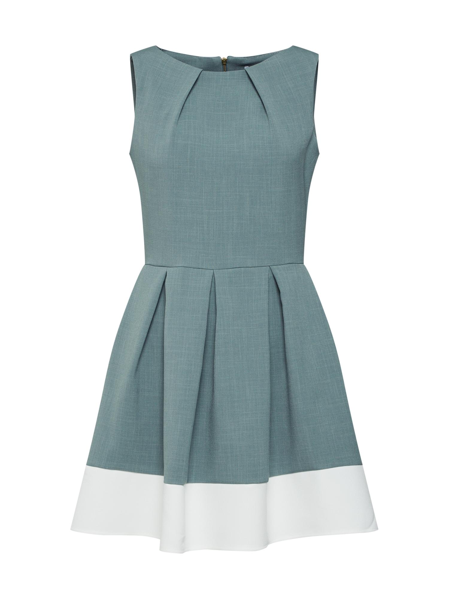 Closet London Trumpa kokteilinė suknelė kremo / benzino spalva
