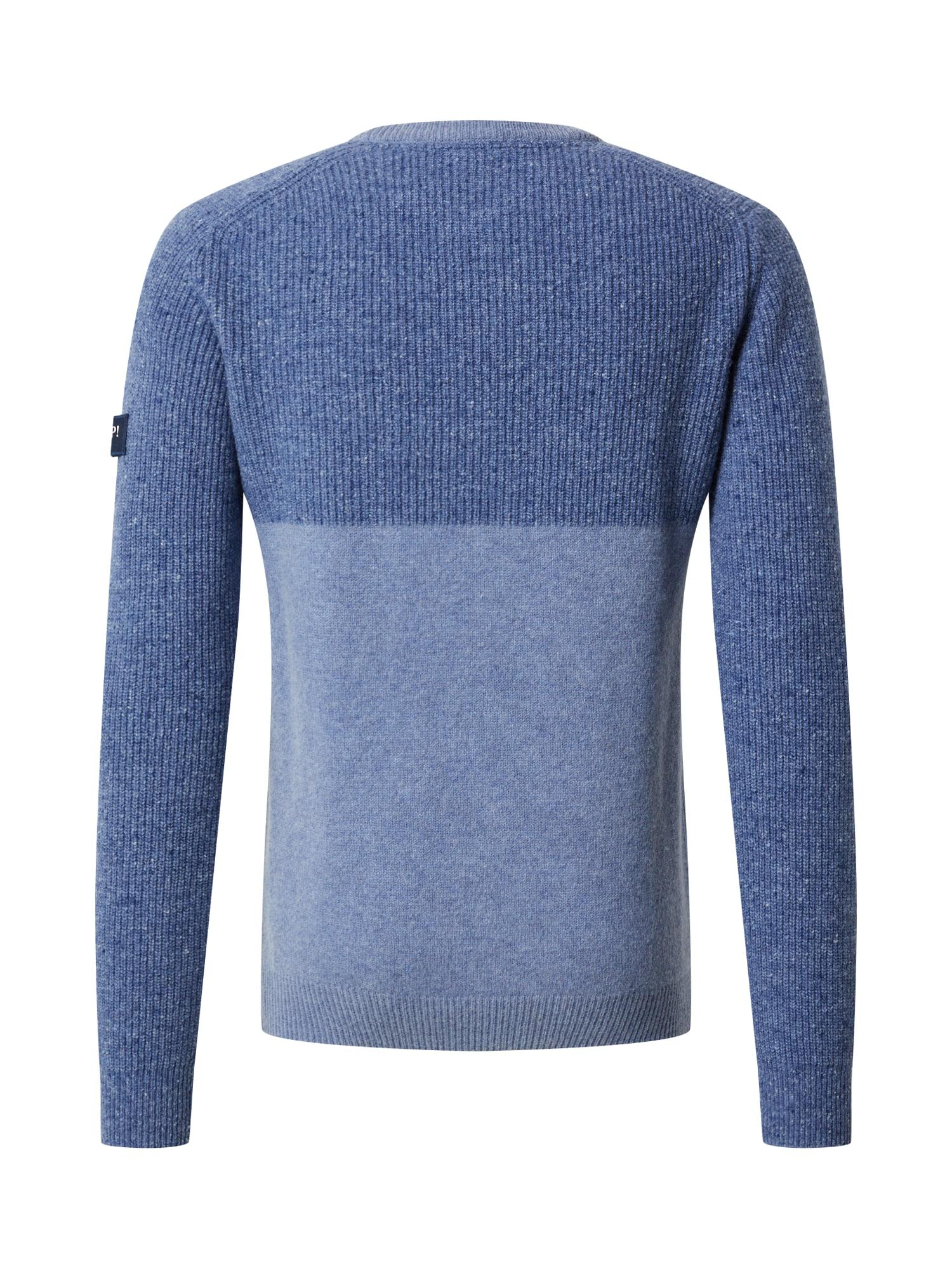 JOOP! Jeans Tröja 'Sassan'  duvblå / rökblå