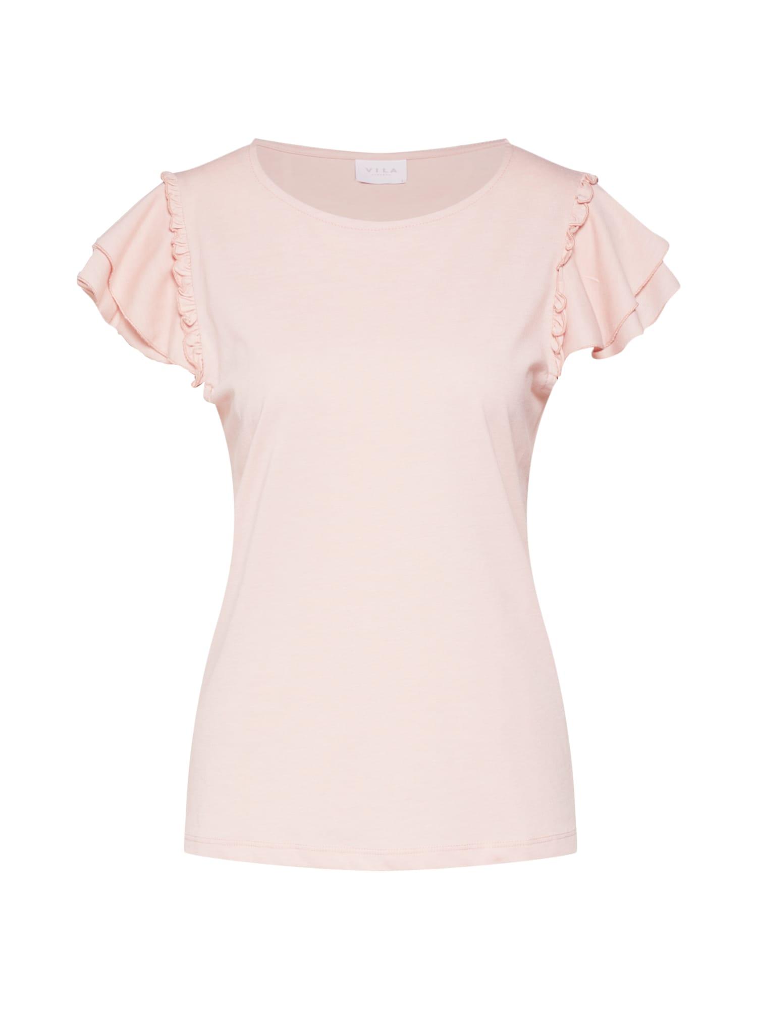 VILA Tričko 'VILIA'  ružová