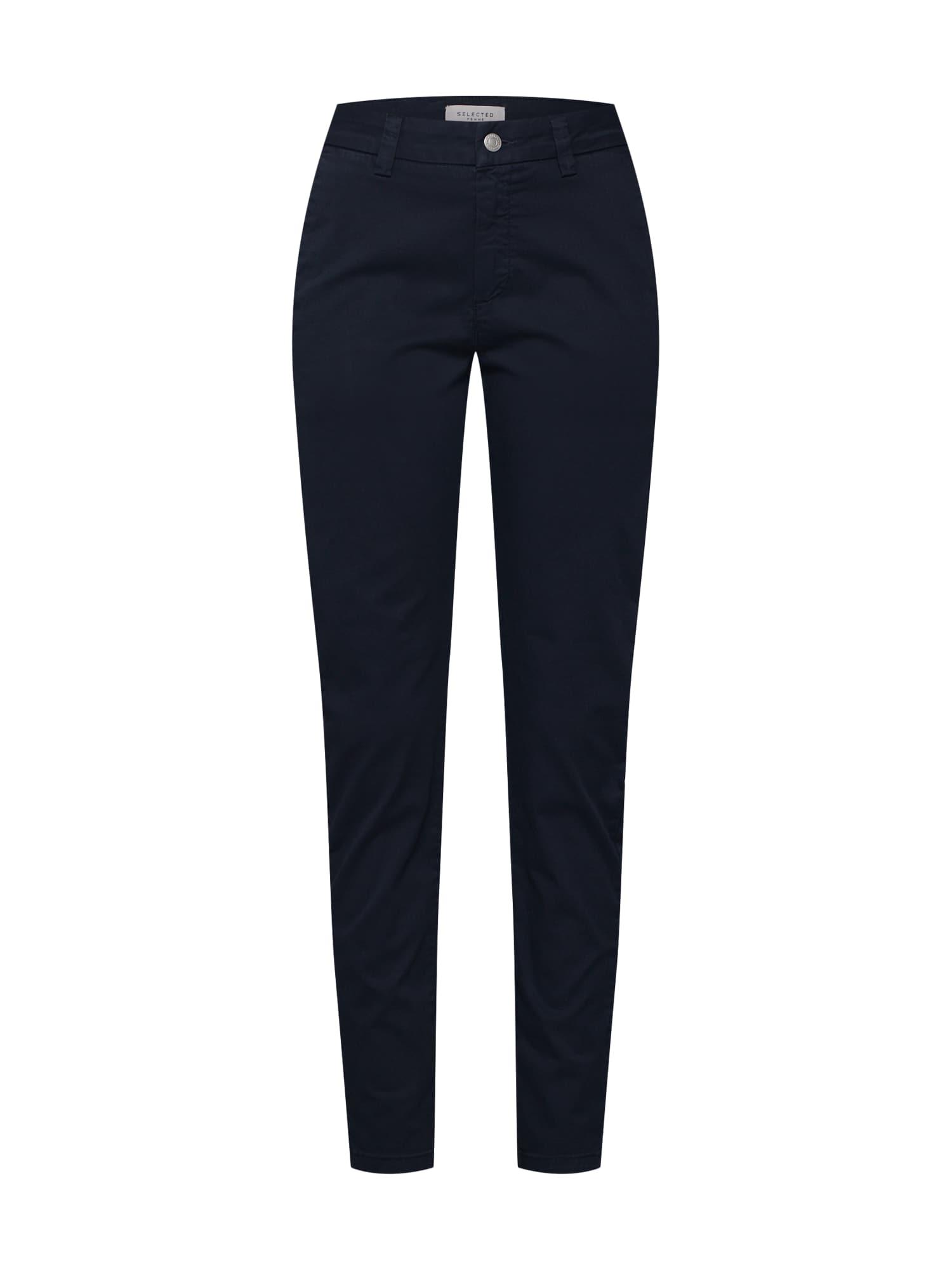 SELECTED FEMME Chino nohavice  námornícka modrá