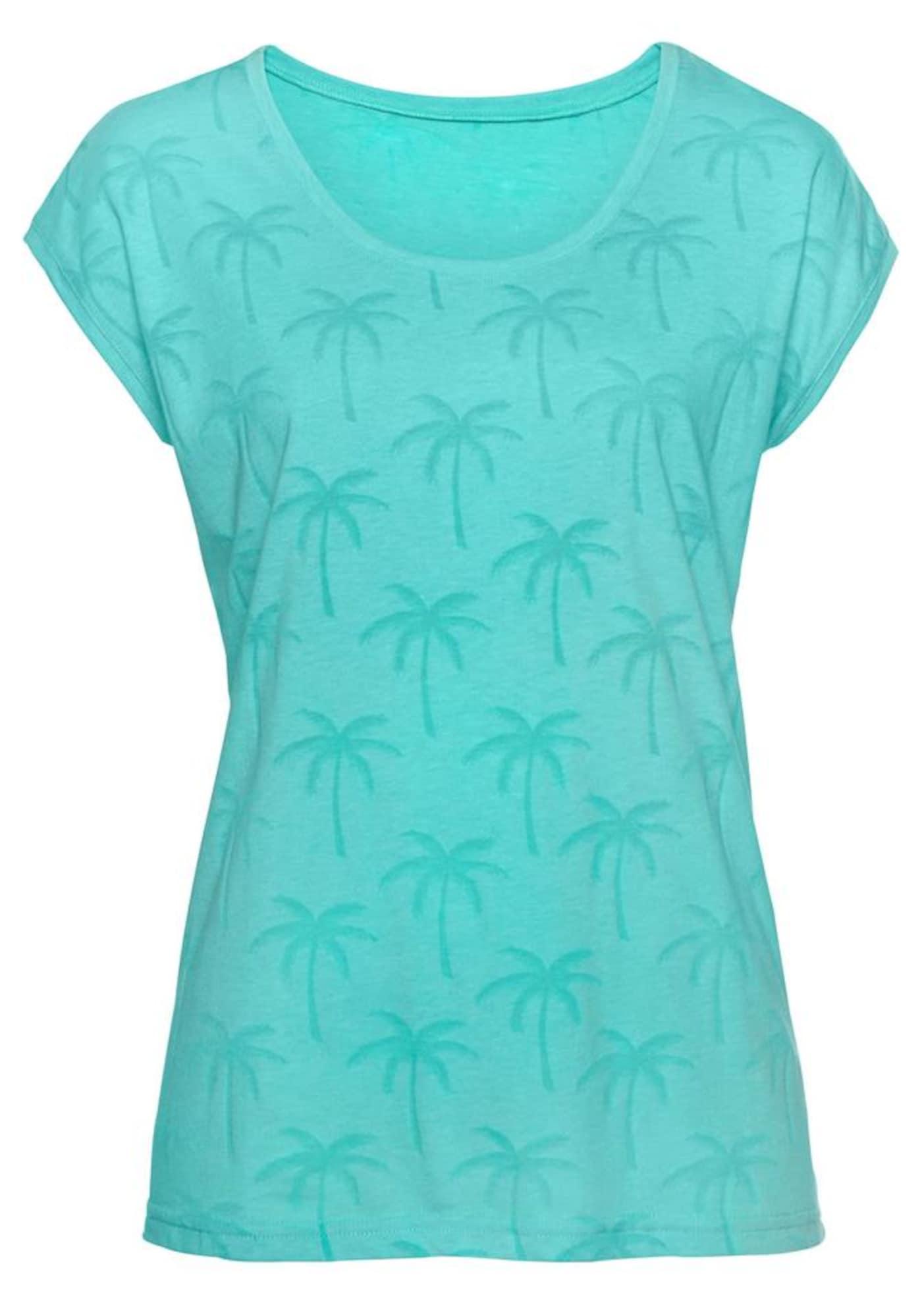 BEACH TIME Marškinėliai turkio spalva / antracito