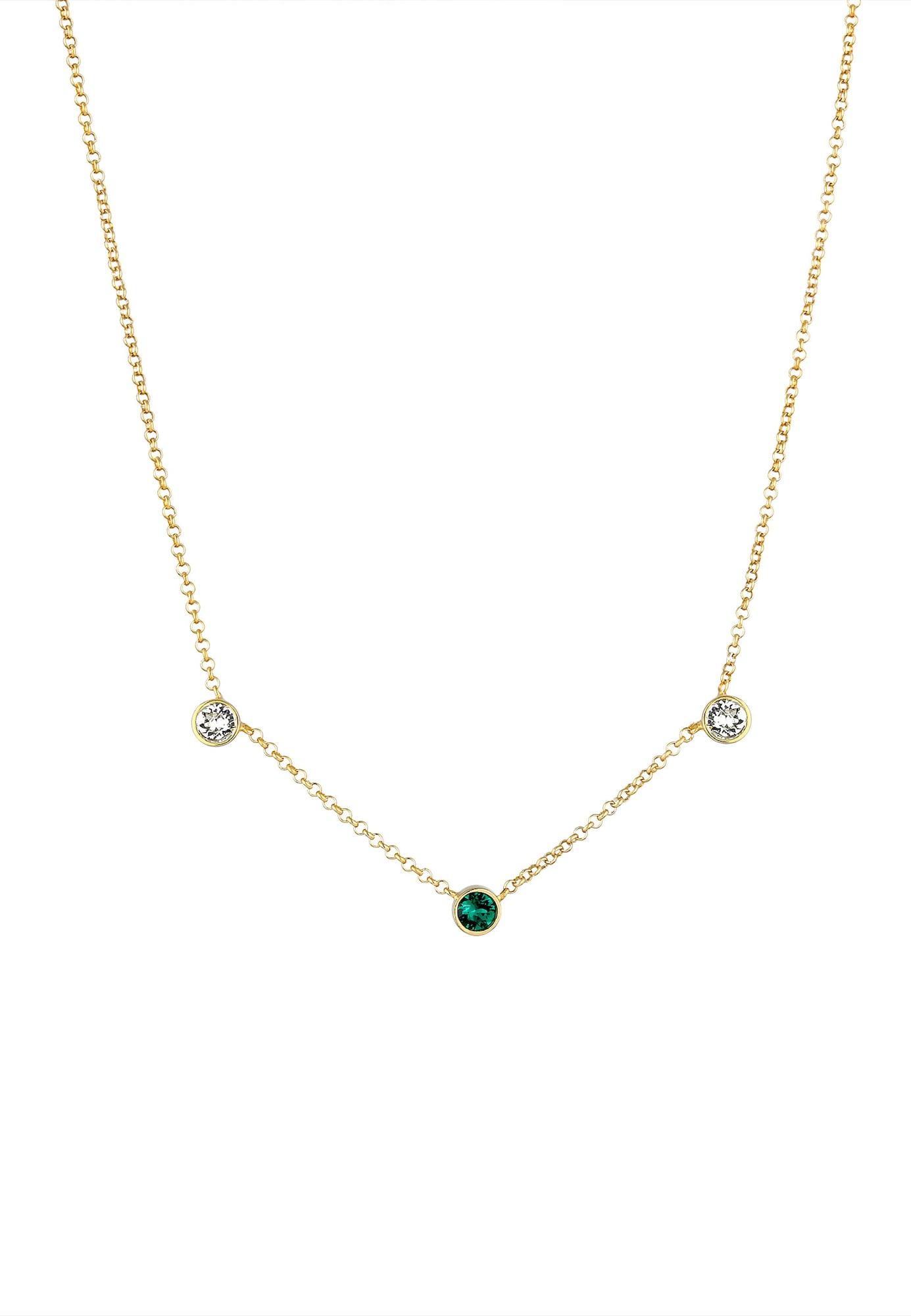 Halskette Kristall Kette, Solitär-Kette | Schmuck > Halsketten > Lange Ketten | ELLI