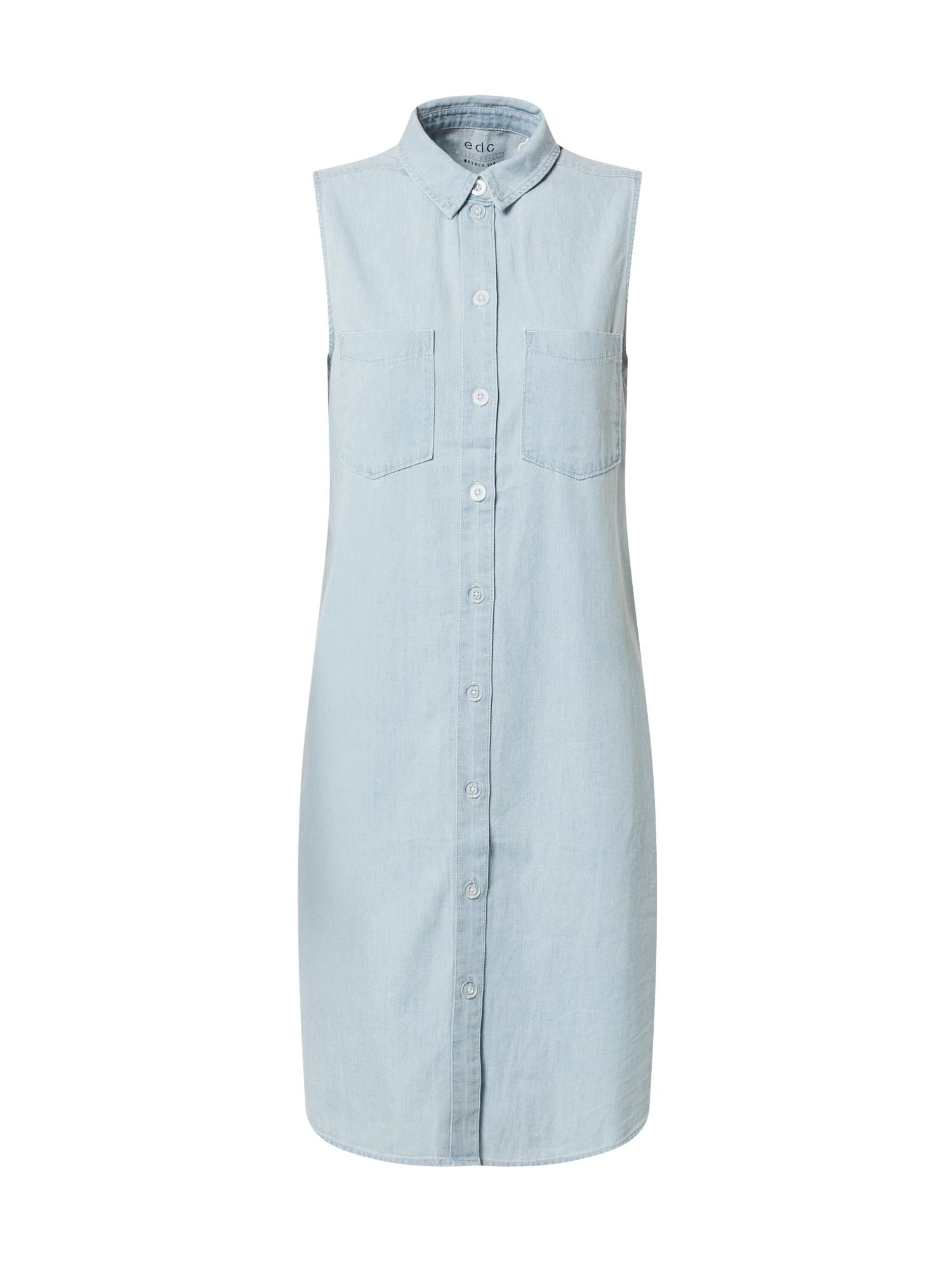 EDC BY ESPRIT Suknelė tamsiai (džinso) mėlyna