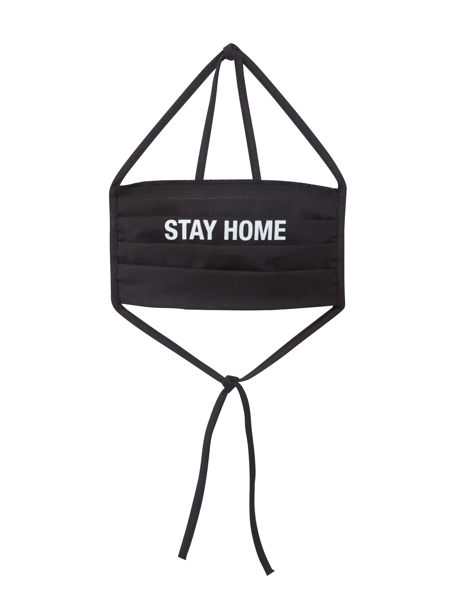 Mister Tee Mască de stofă 'Stay Home'  negru