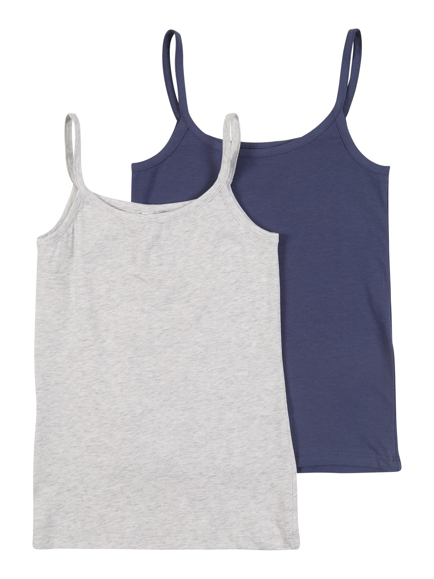 SCHIESSER Apatiniai marškinėliai šviesiai pilka / nakties mėlyna