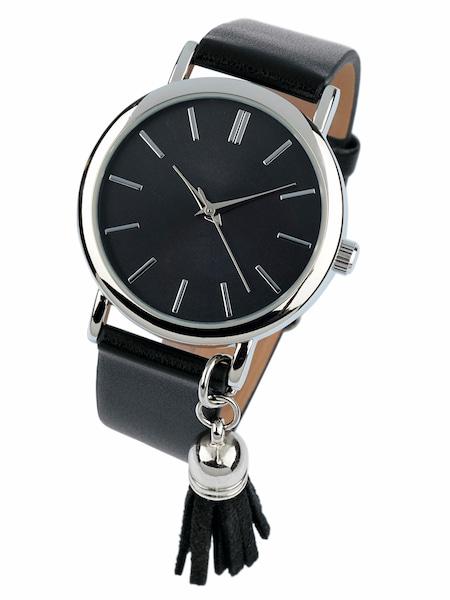 Uhren für Frauen - Heine Armbanduhr mit kleiner Quaste schwarz silber  - Onlineshop ABOUT YOU