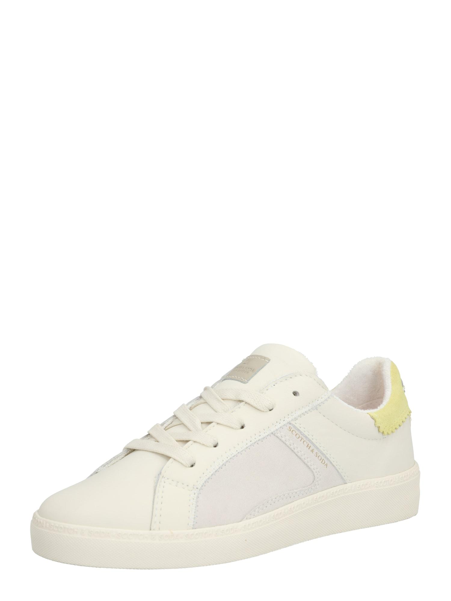 SCOTCH & SODA Nízke tenisky 'Laurite Low Lace Shoes'  žlté / biela