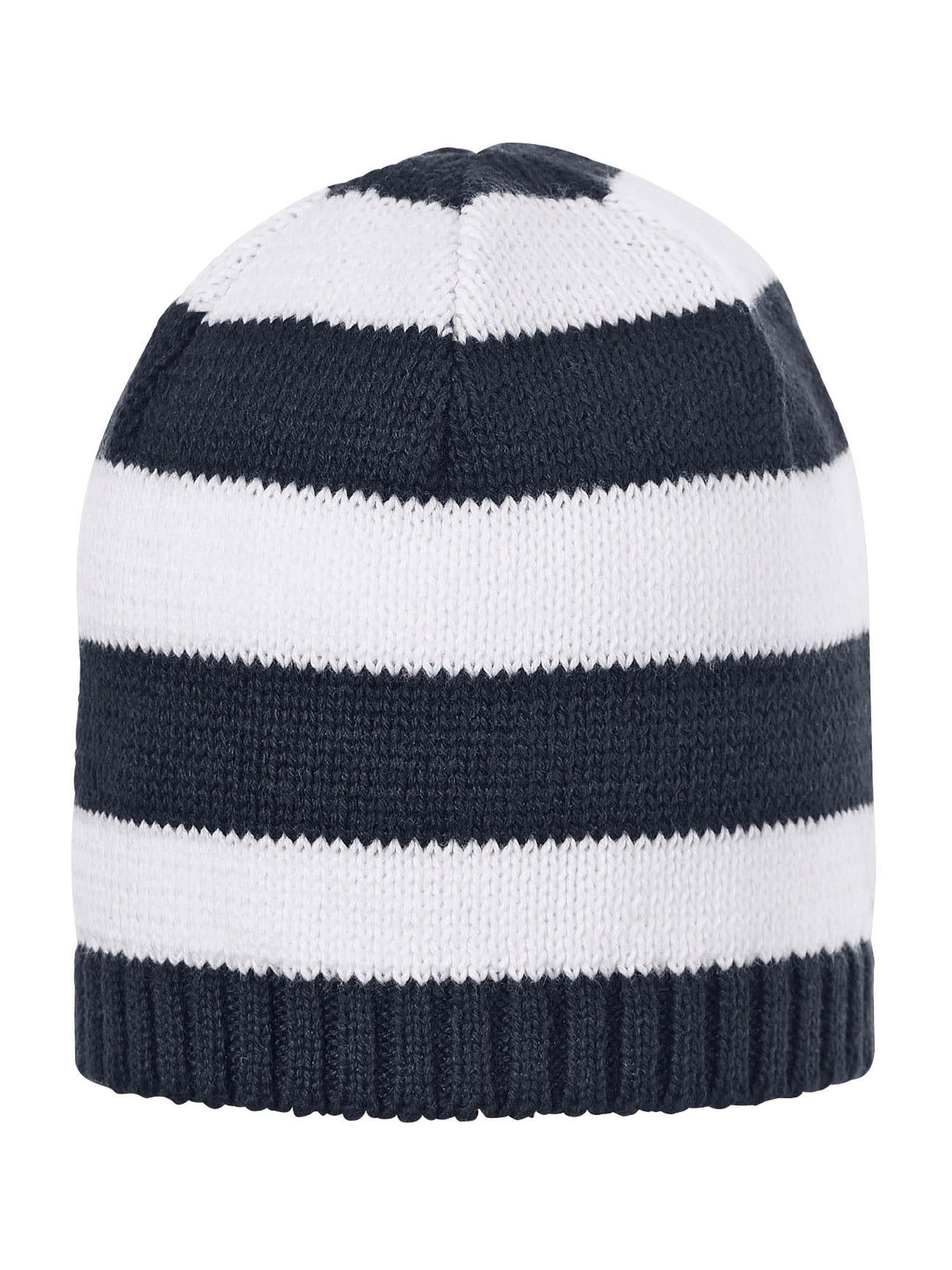 STERNTALER Megzta kepurė tamsiai mėlyna jūros spalva / balta