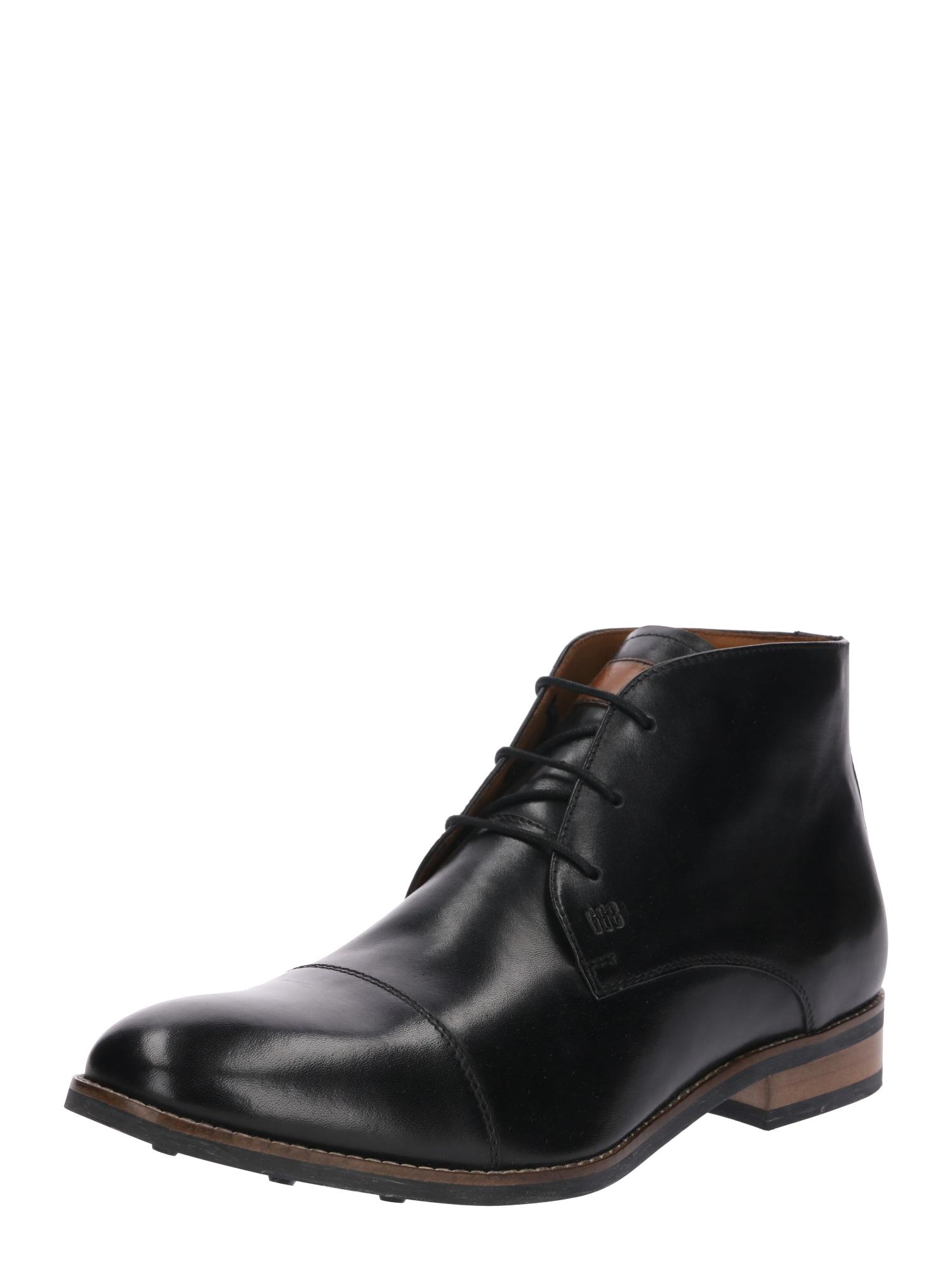 Šněrovací boty Danilo černá Gordon & Bros