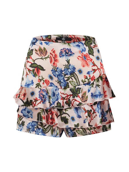 Hosen für Frauen - Missguided Shorts 'Satin Crepe Floral Frill' blau rosa  - Onlineshop ABOUT YOU