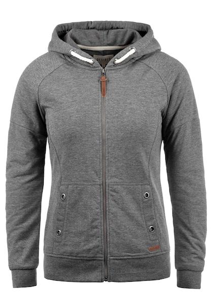 Jacken für Frauen - Desires Sweatjacke 'Mandy' graumeliert  - Onlineshop ABOUT YOU