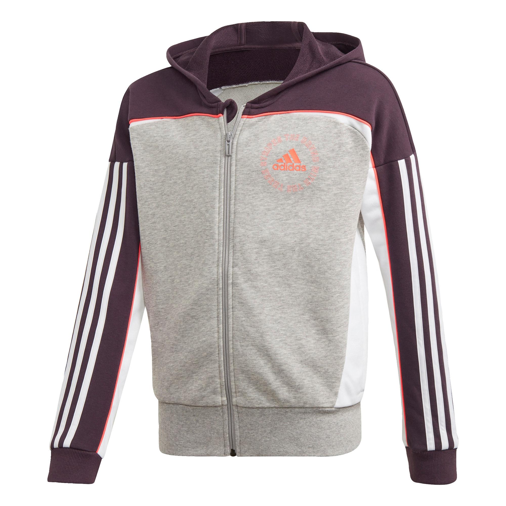 ADIDAS PERFORMANCE Sportovní bunda  bílá / oranžová / šedá / černá