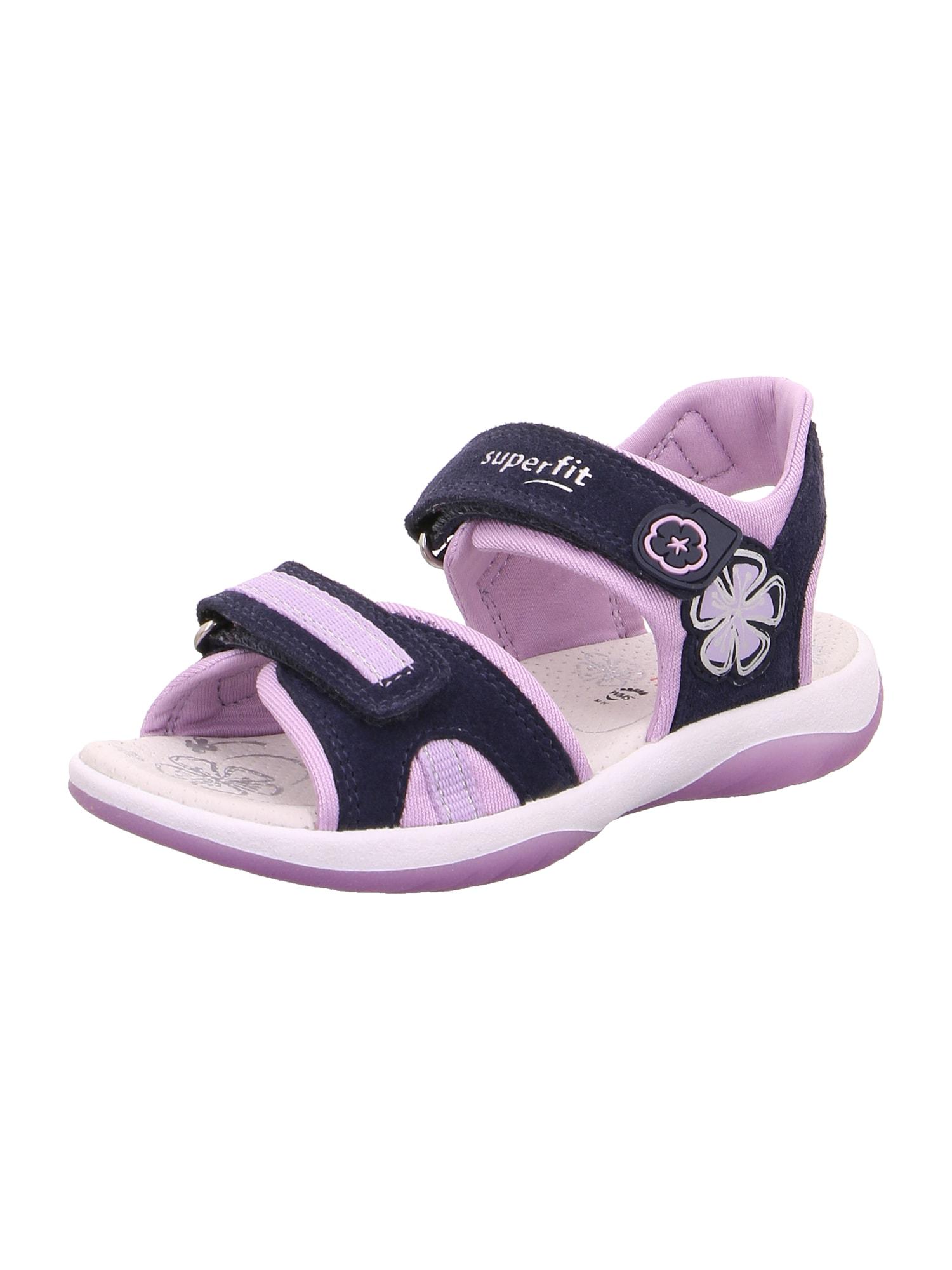 SUPERFIT Sandalai 'SUNNY' mėlyna / purpurinė