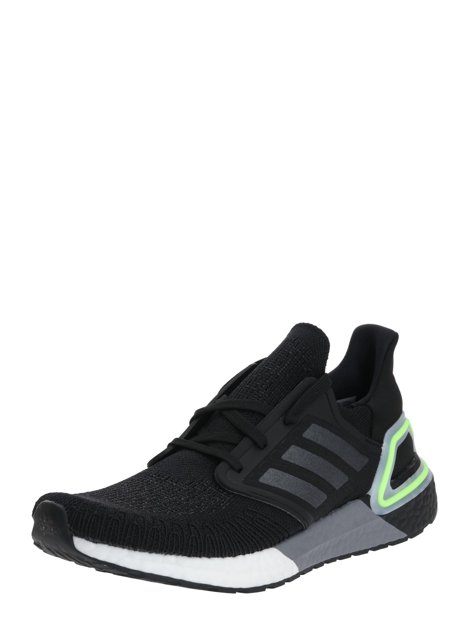ADIDAS PERFORMANCE Bėgimo batai 'ULTRABOOST 20' juoda / pilka / neoninė žalia
