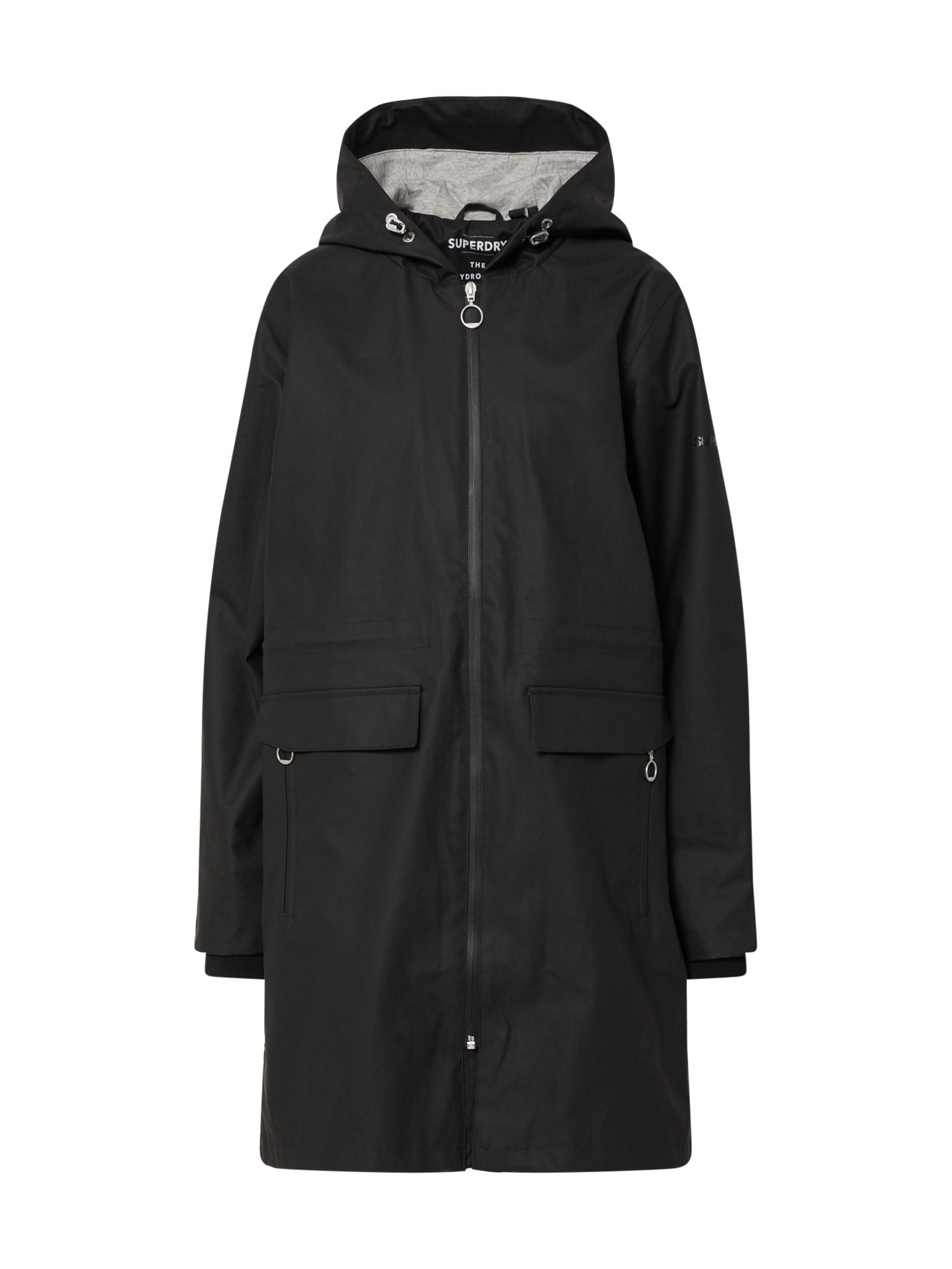 Superdry Rudeninis-žieminis paltas juoda