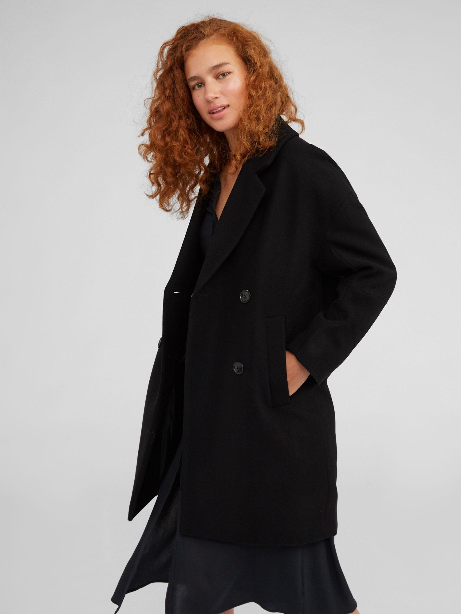 EDITED Prechodný kabát 'Hanne'  čierna.