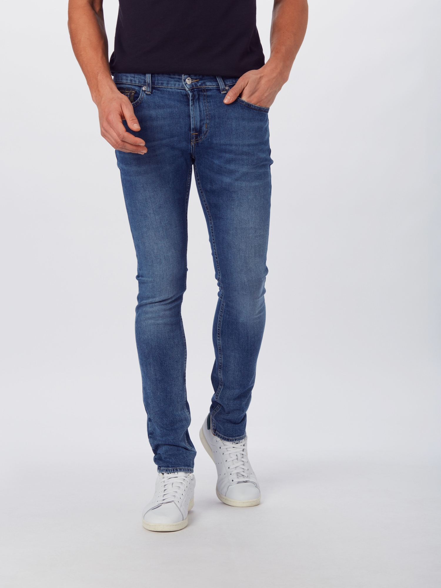 7 for all mankind jeans 'ronnie emerald'  blauw