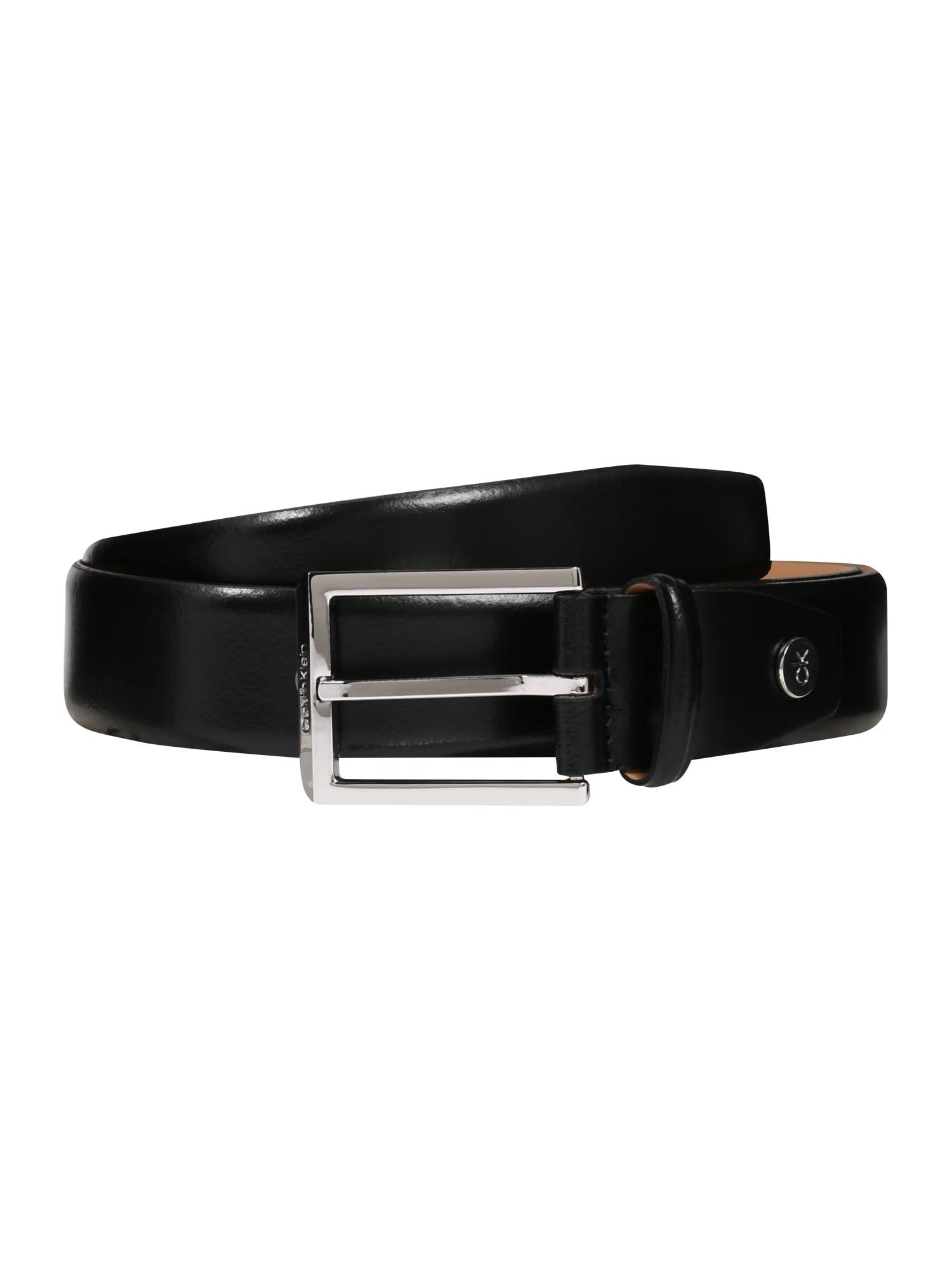 Calvin Klein Diržas juoda / sidabrinė