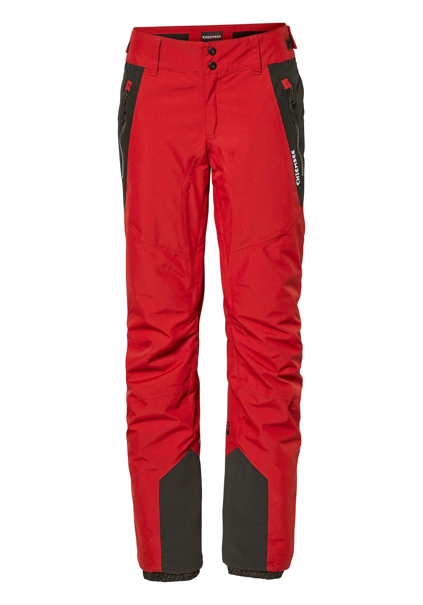 CHIEMSEE Outdoorové kalhoty  černá / červená