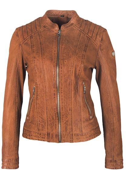 Jacken für Frauen - Gipsy Lederjacke 'MIRA LALOV' braun cognac  - Onlineshop ABOUT YOU