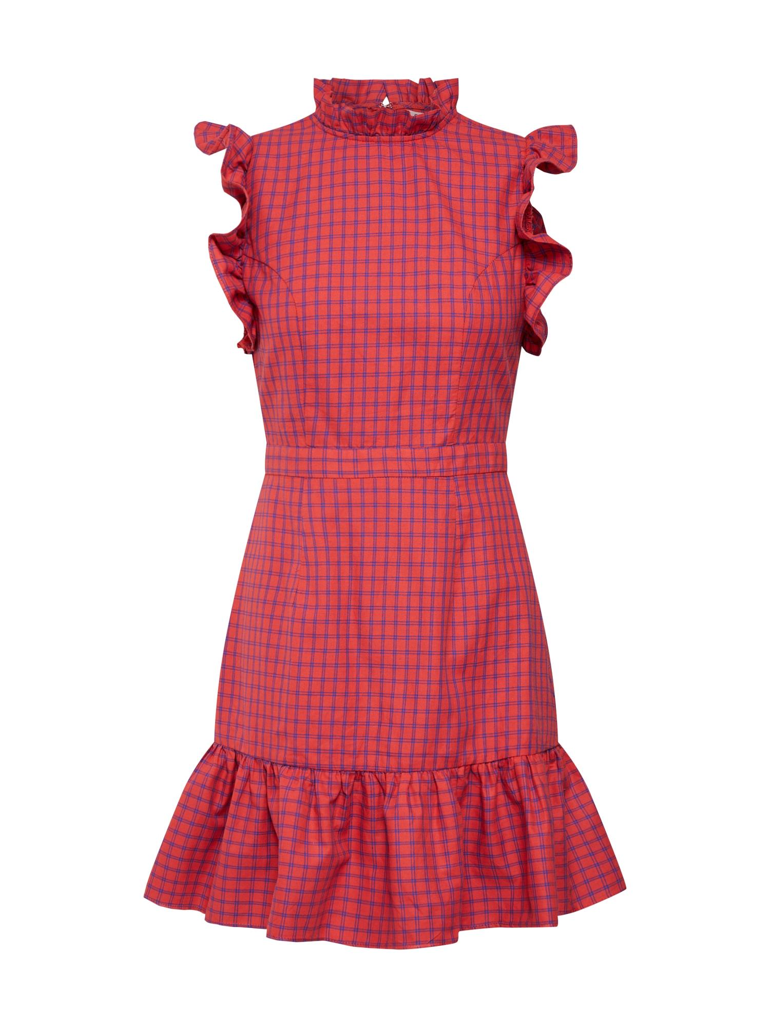 Šaty HP0539 modrá červená GLAMOROUS