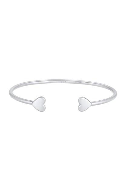 Armbaender - Armband Herz, Armreif, offen › ELLI PREMIUM › silber  - Onlineshop ABOUT YOU