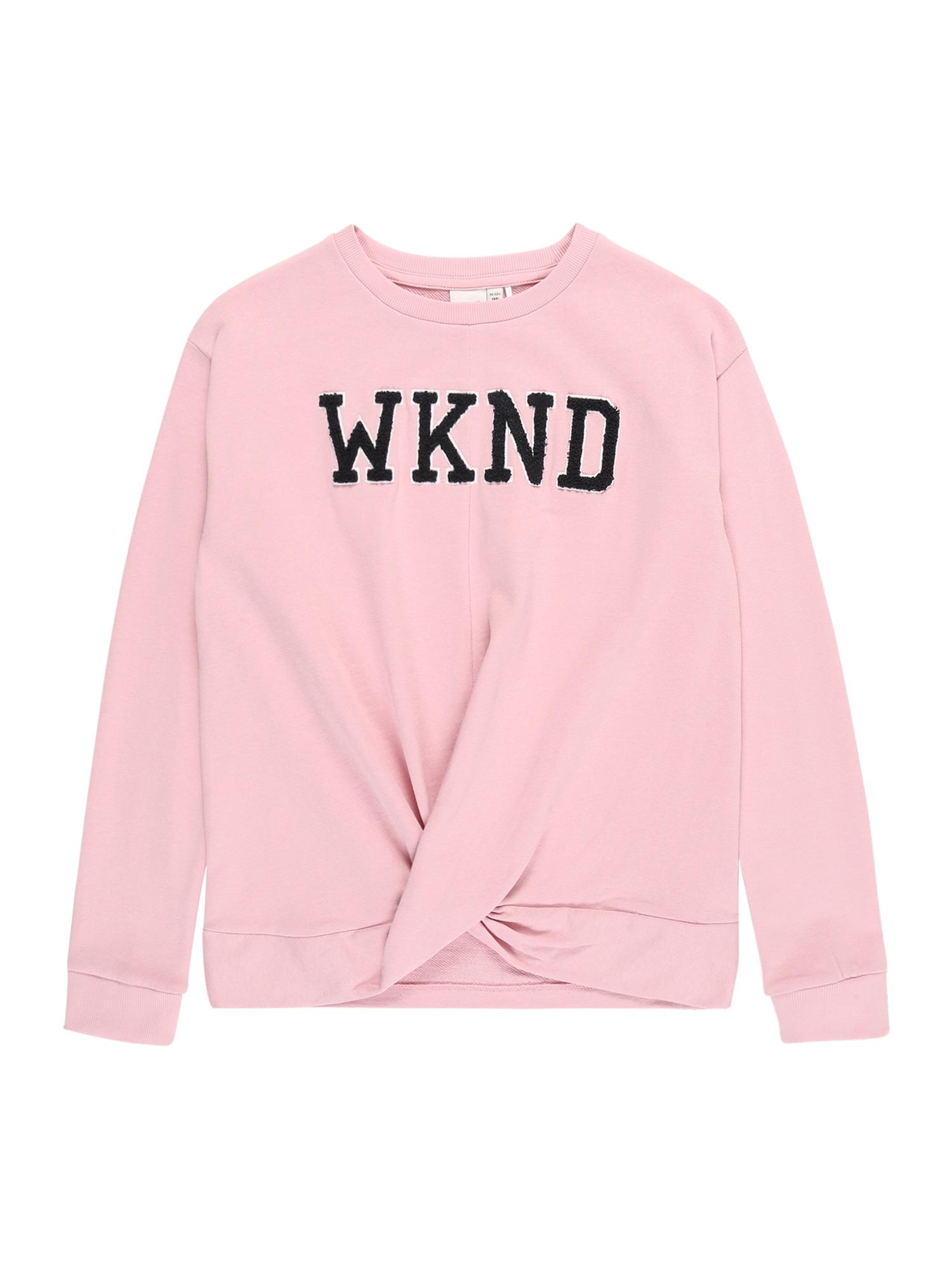 NAME IT Megztinis be užsegimo 'NKFBERETHE LS SWEAT BOX UNB' rožinė