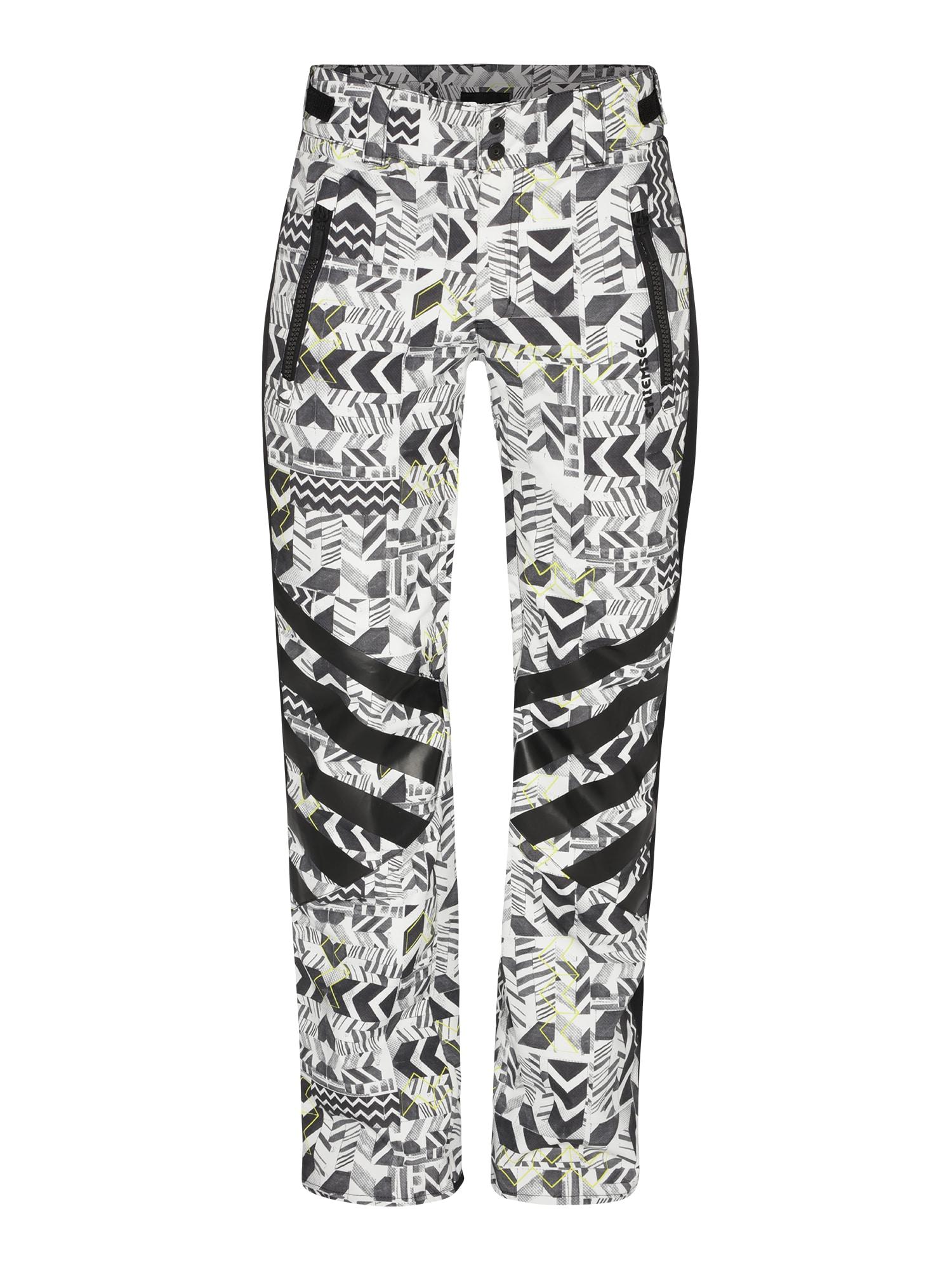 CHIEMSEE Sportinės kelnės juoda / balta