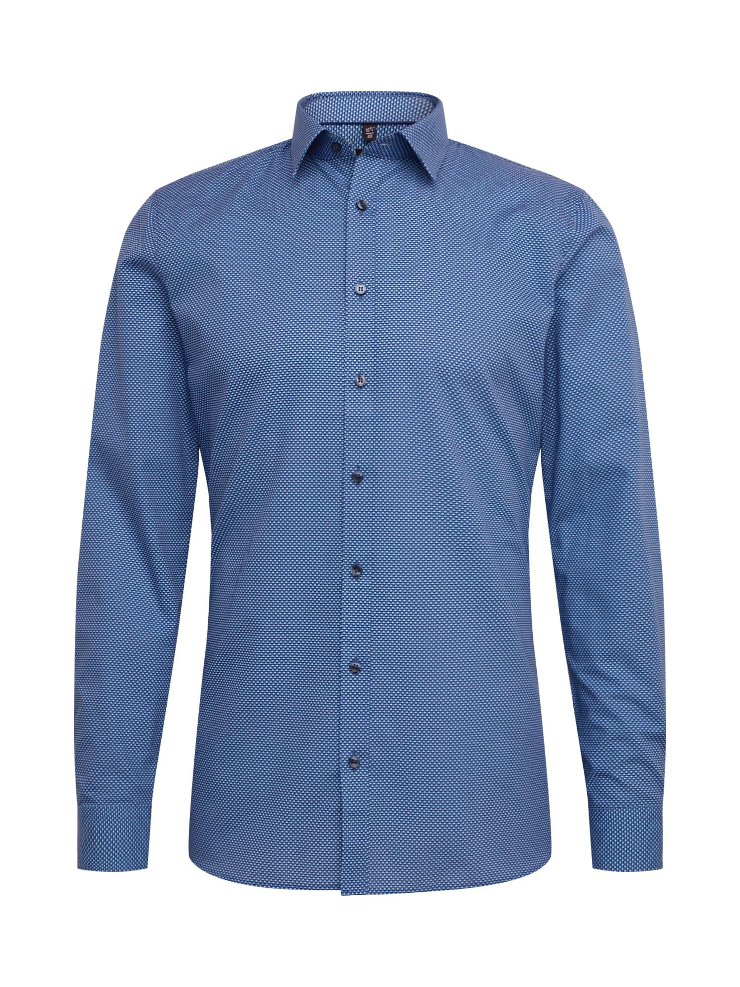 OLYMP Dalykinio stiliaus marškiniai mėlyna / balta