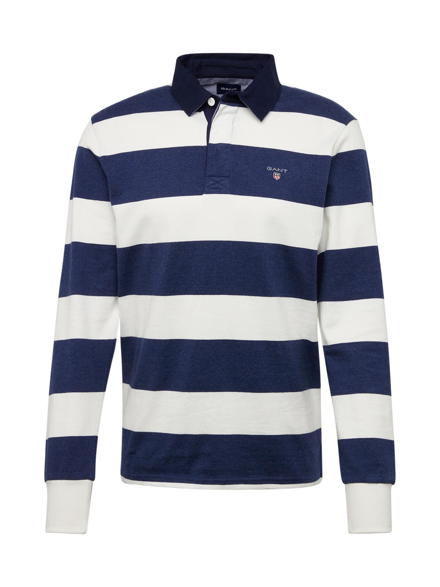 GANT Marškinėliai tamsiai mėlyna / kiaušinio lukšto spalva