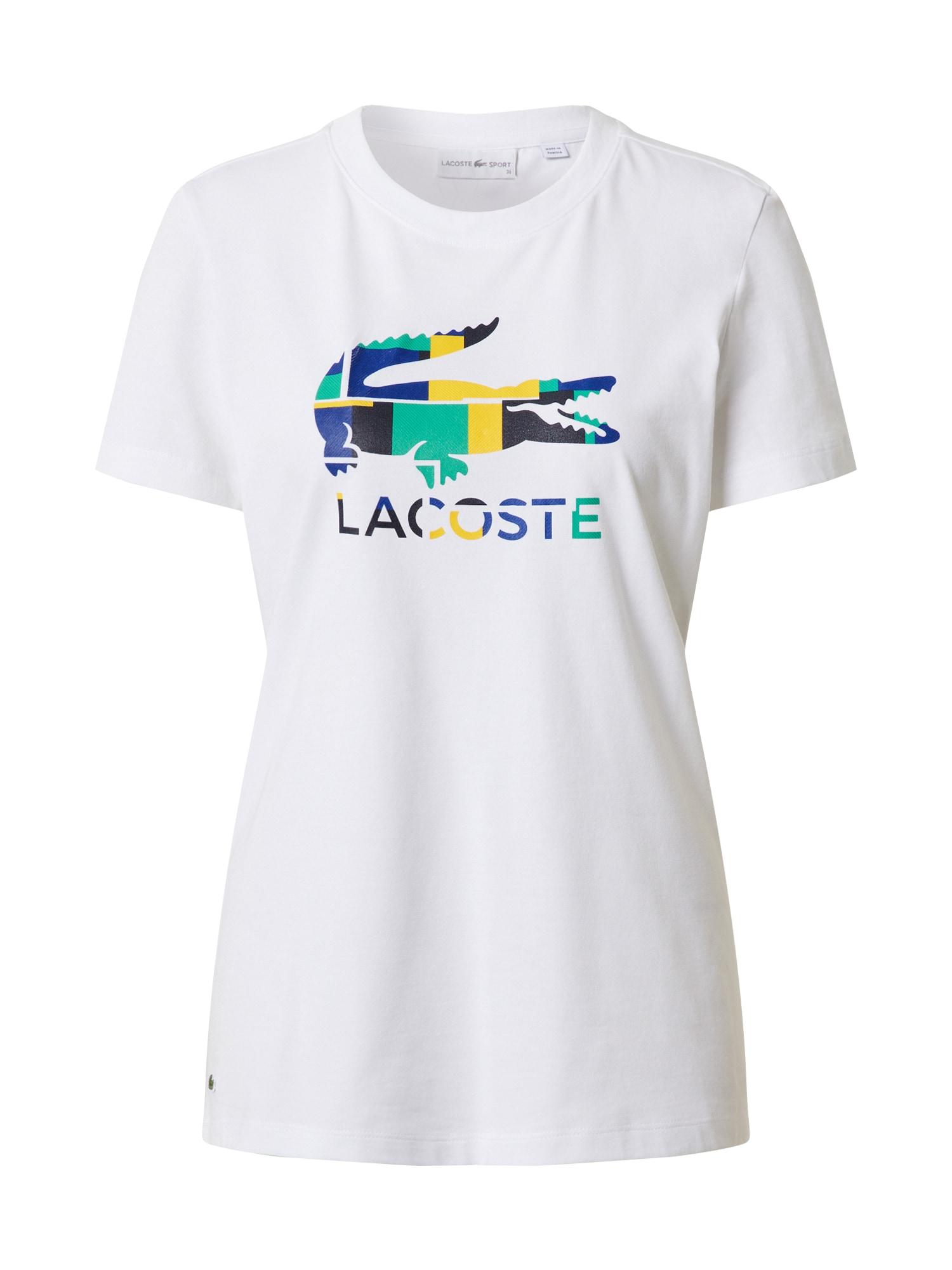 Lacoste Sport Sportiniai marškinėliai balta / mišrios spalvos