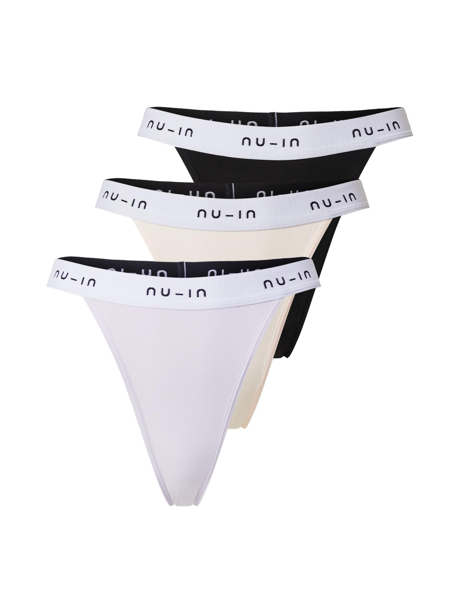 NU-IN Tanga  černá / šeříková / pastelově růžová / bílá