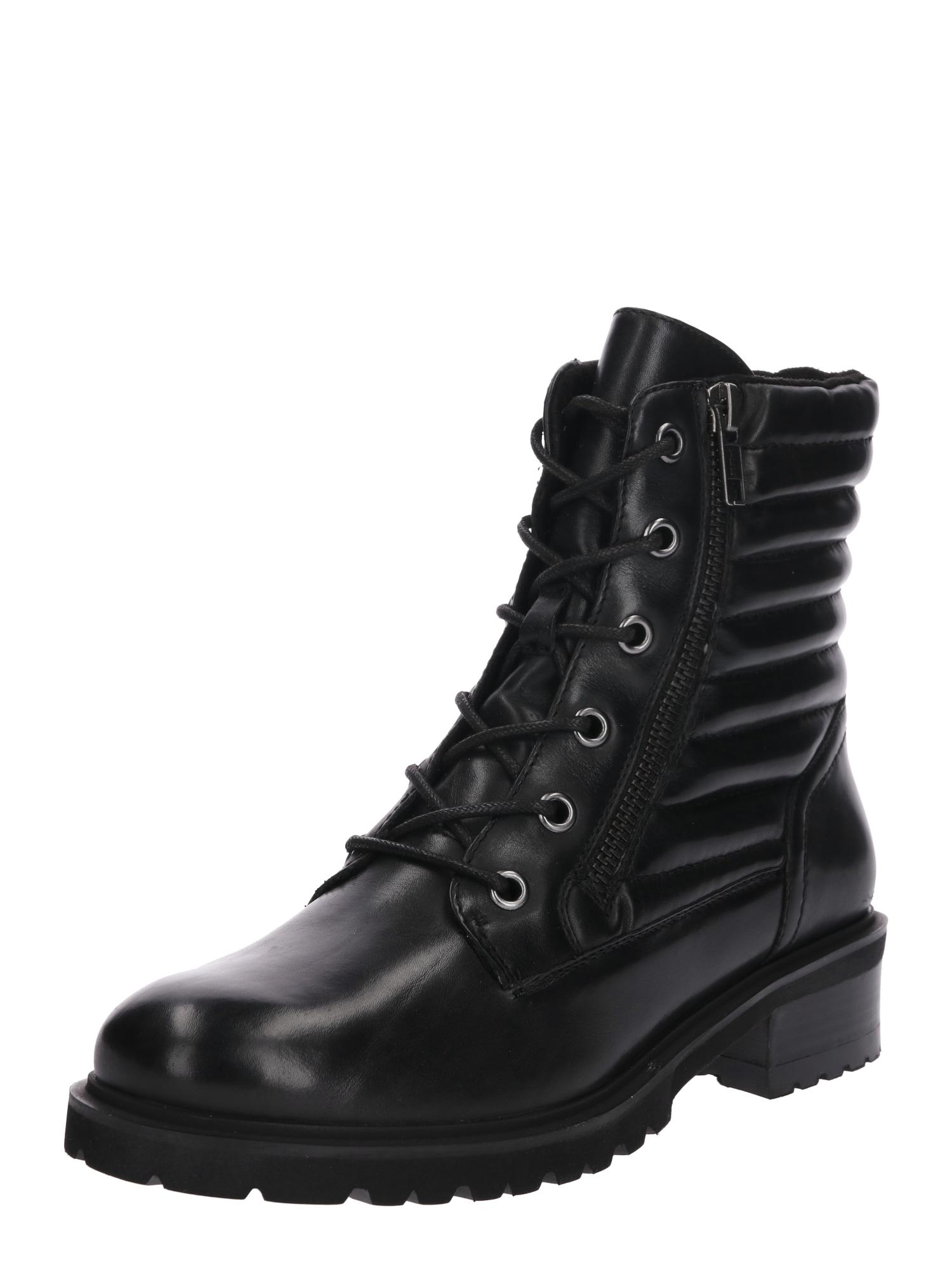Šněrovací boty Mouplain černá SPM