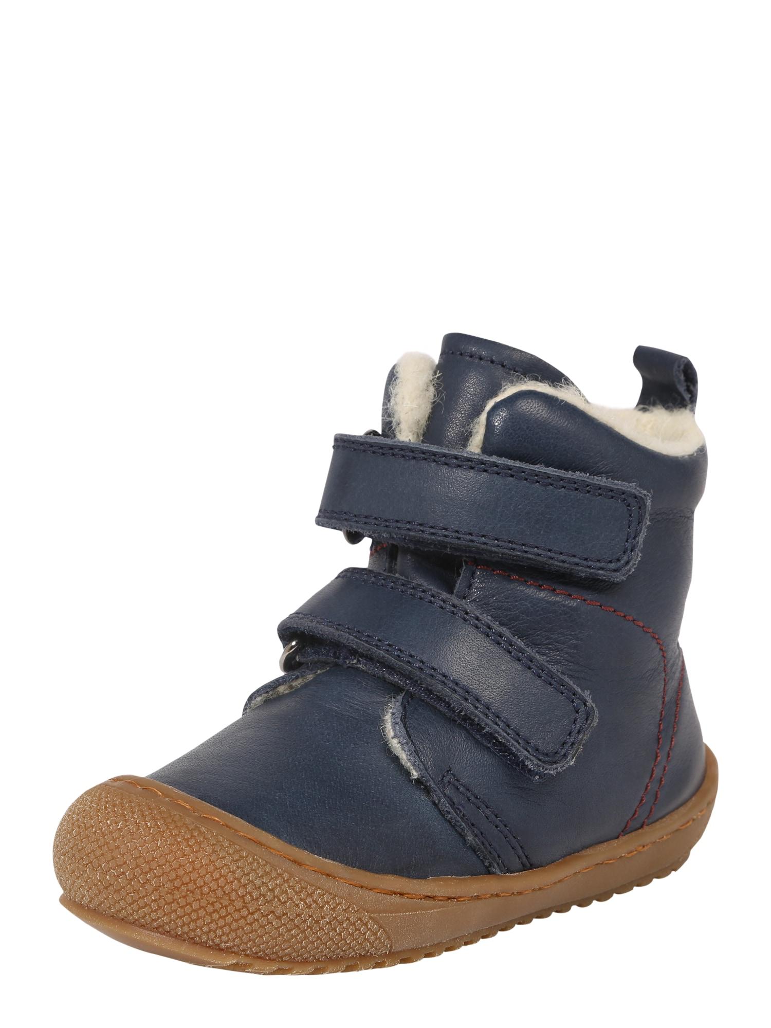 NATURINO Auliniai batai su kulniuku tamsiai mėlyna jūros spalva