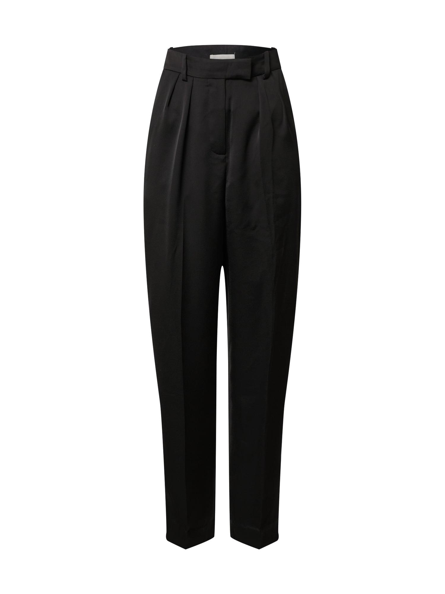 LeGer by Lena Gercke Klostuotos kelnės 'Carolina' juoda
