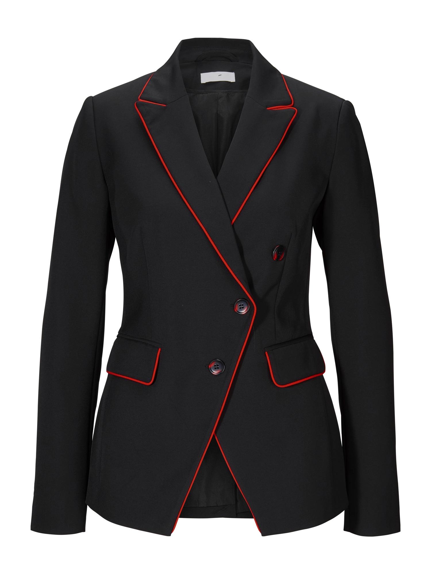 heine Blazer švarkas juoda / raudona