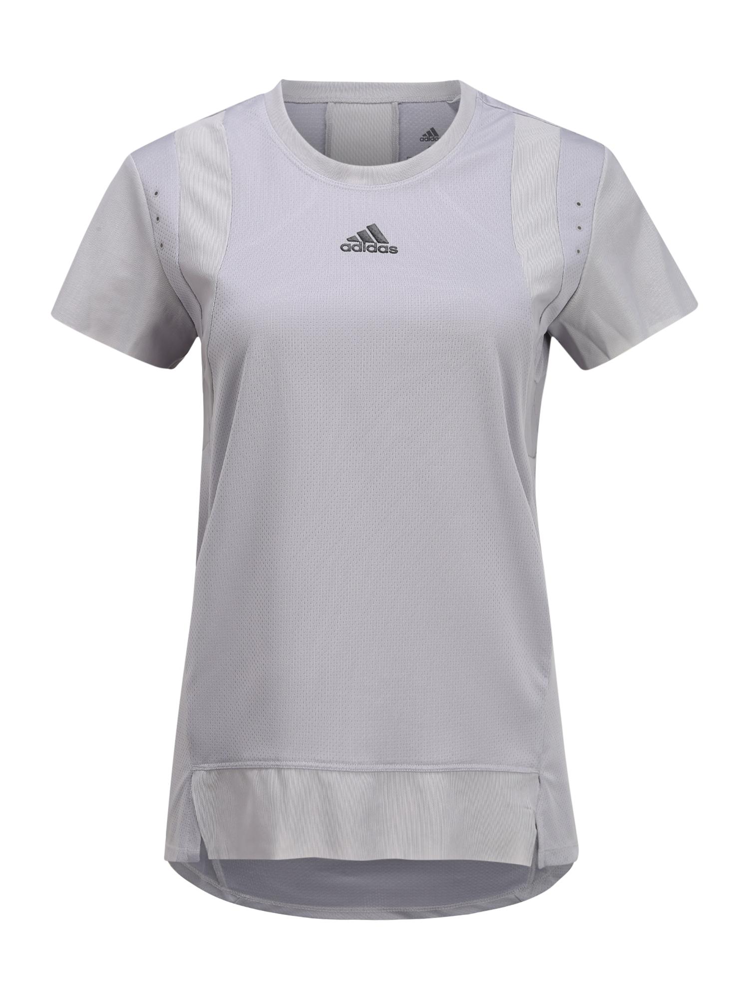 ADIDAS PERFORMANCE Funkčné tričko 'TEE'  sivá / čierna
