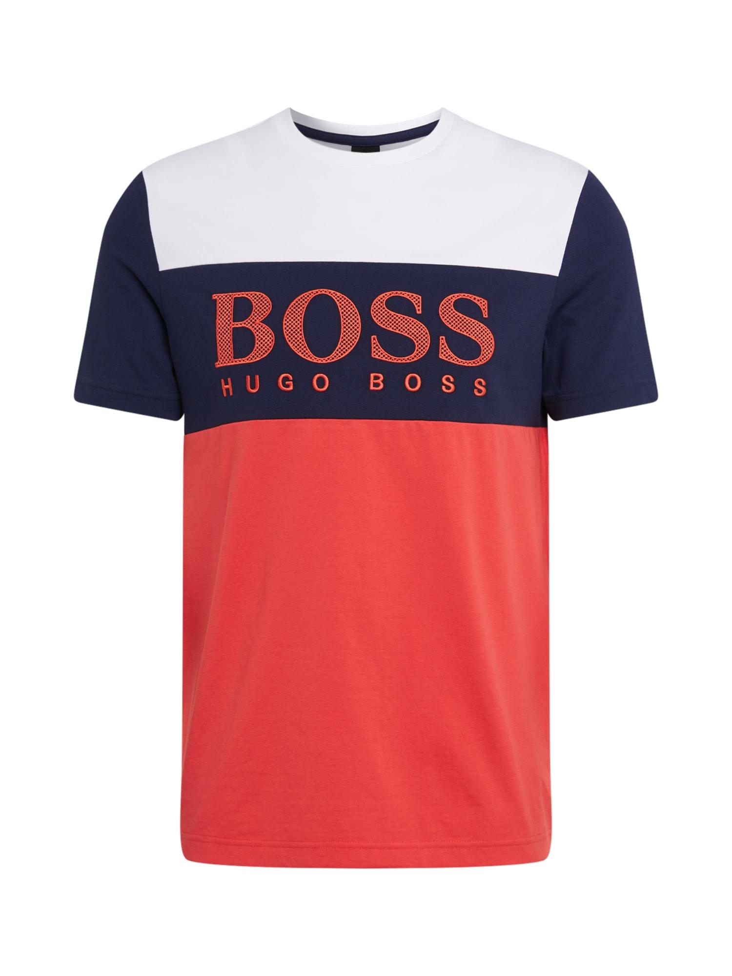 BOSS ATHLEISURE Marškinėliai 'Tee 6' raudona