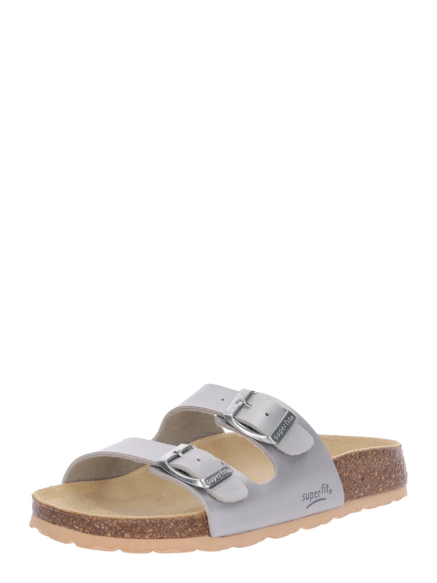 Otevřená obuv FUSSBETTPANTOFFEL stříbrná SUPERFIT