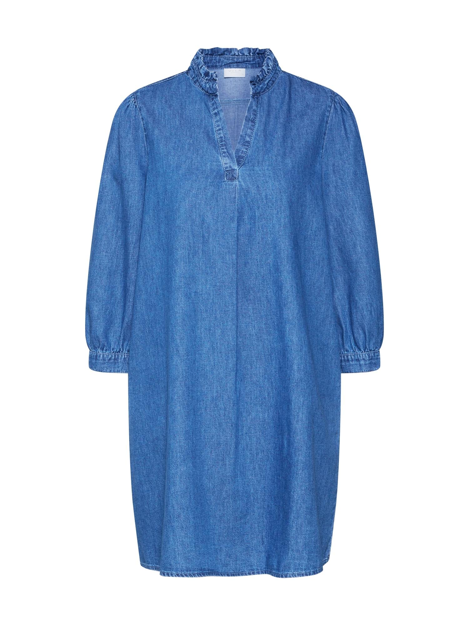 VILA Suknelė 'VITYKA 3/4 SHORT DRESS' mėlyna