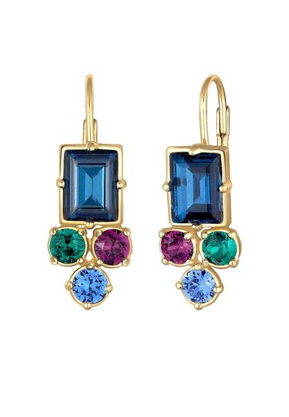 Ohrringe für Frauen - ELLI PREMIUM Ohrringe blau gold grün beere  - Onlineshop ABOUT YOU