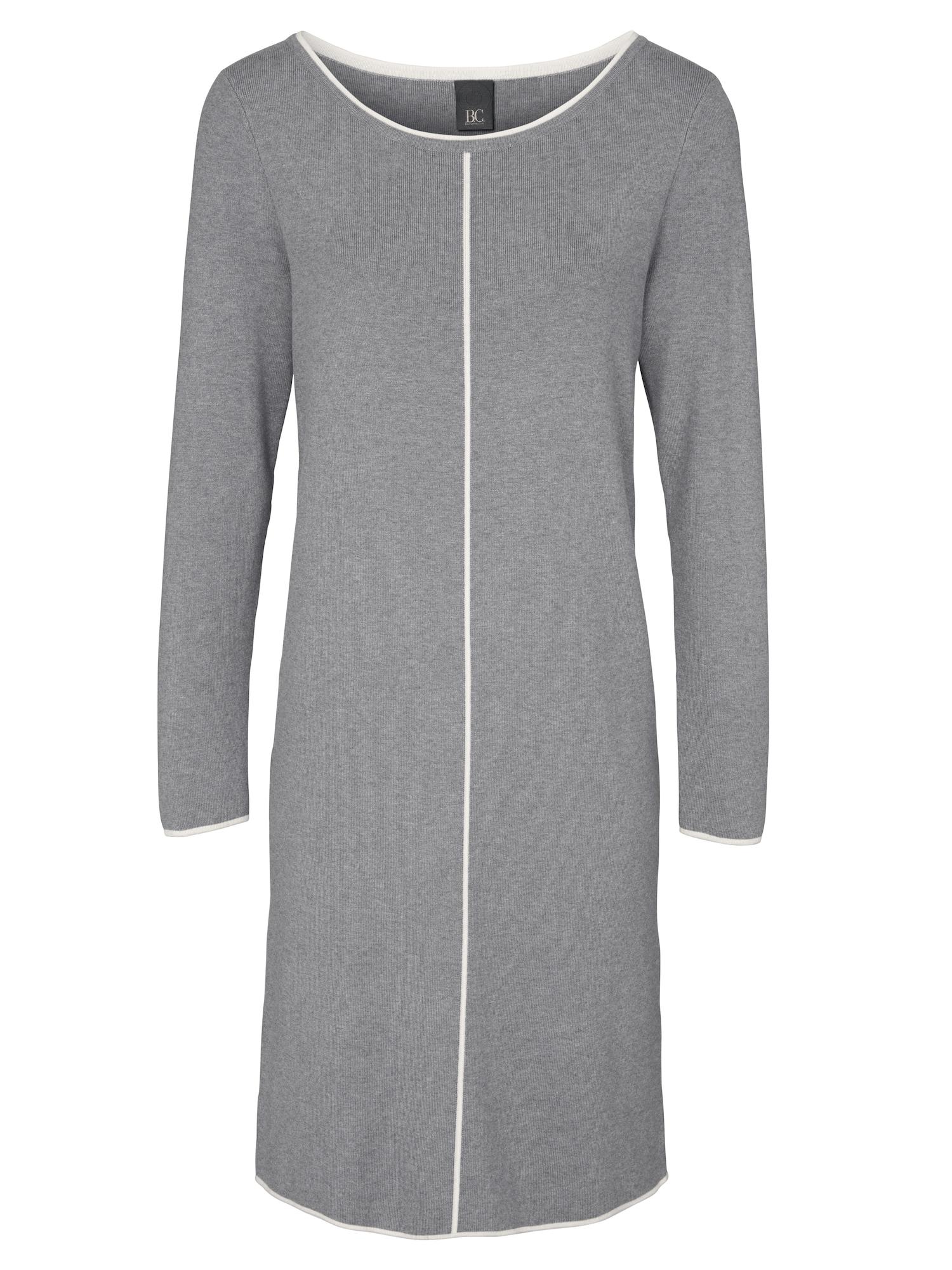 heine Megzta suknelė pilka / balta