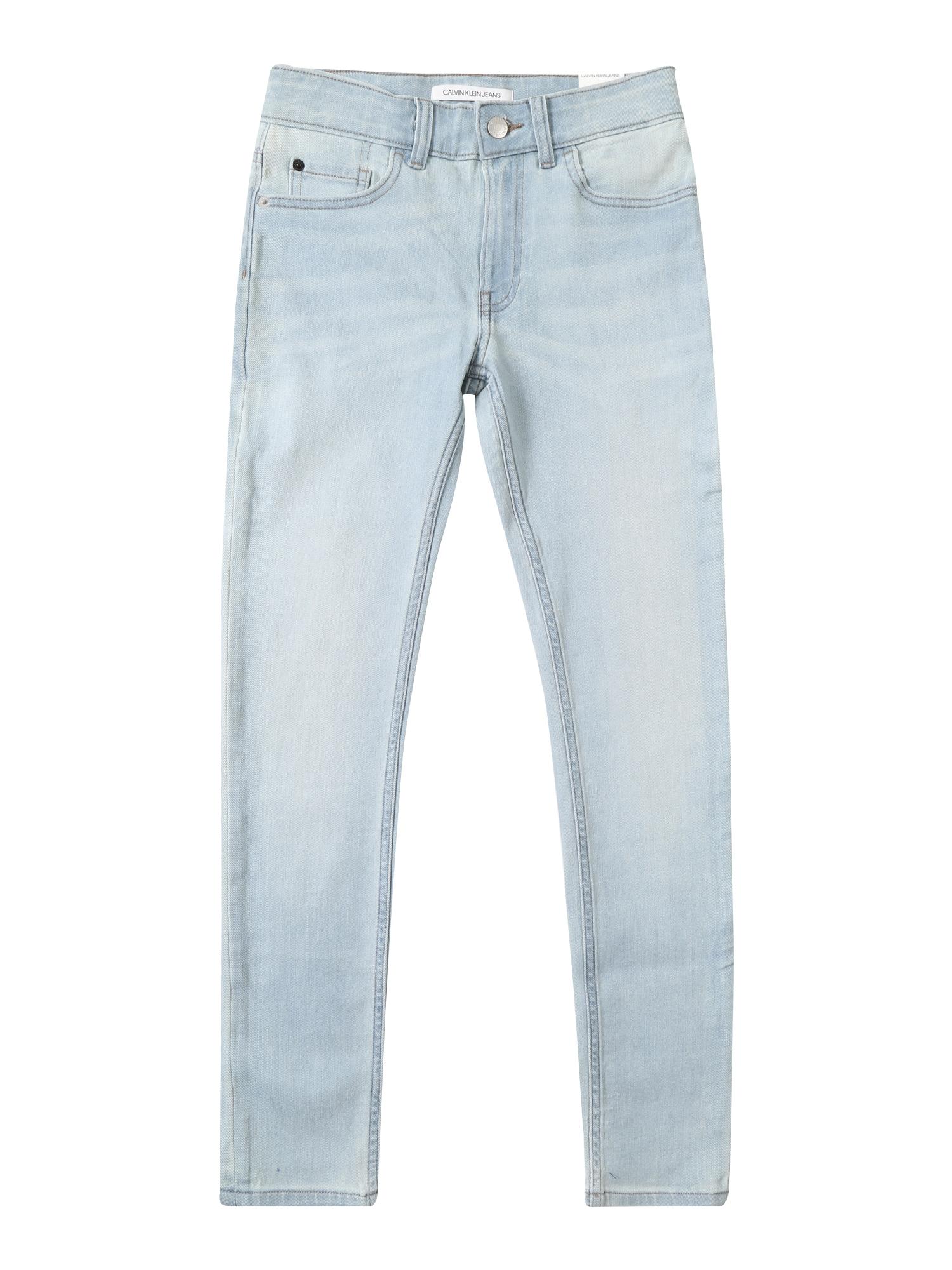 Džíny SKINNY VALE LIGHT BLUE STR modrá džínovina Calvin Klein Jeans