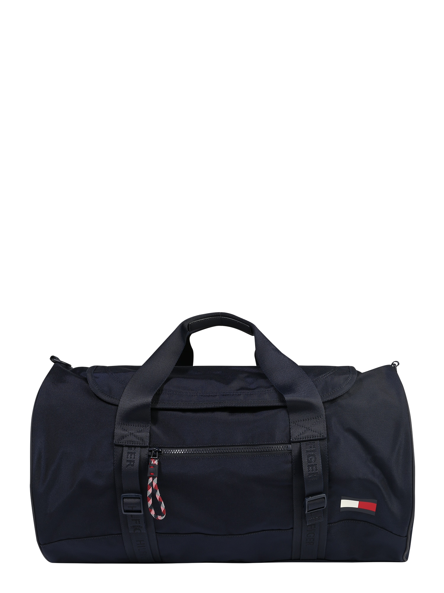 TOMMY HILFIGER Savaitgalio krepšys balta / raudona / tamsiai mėlyna