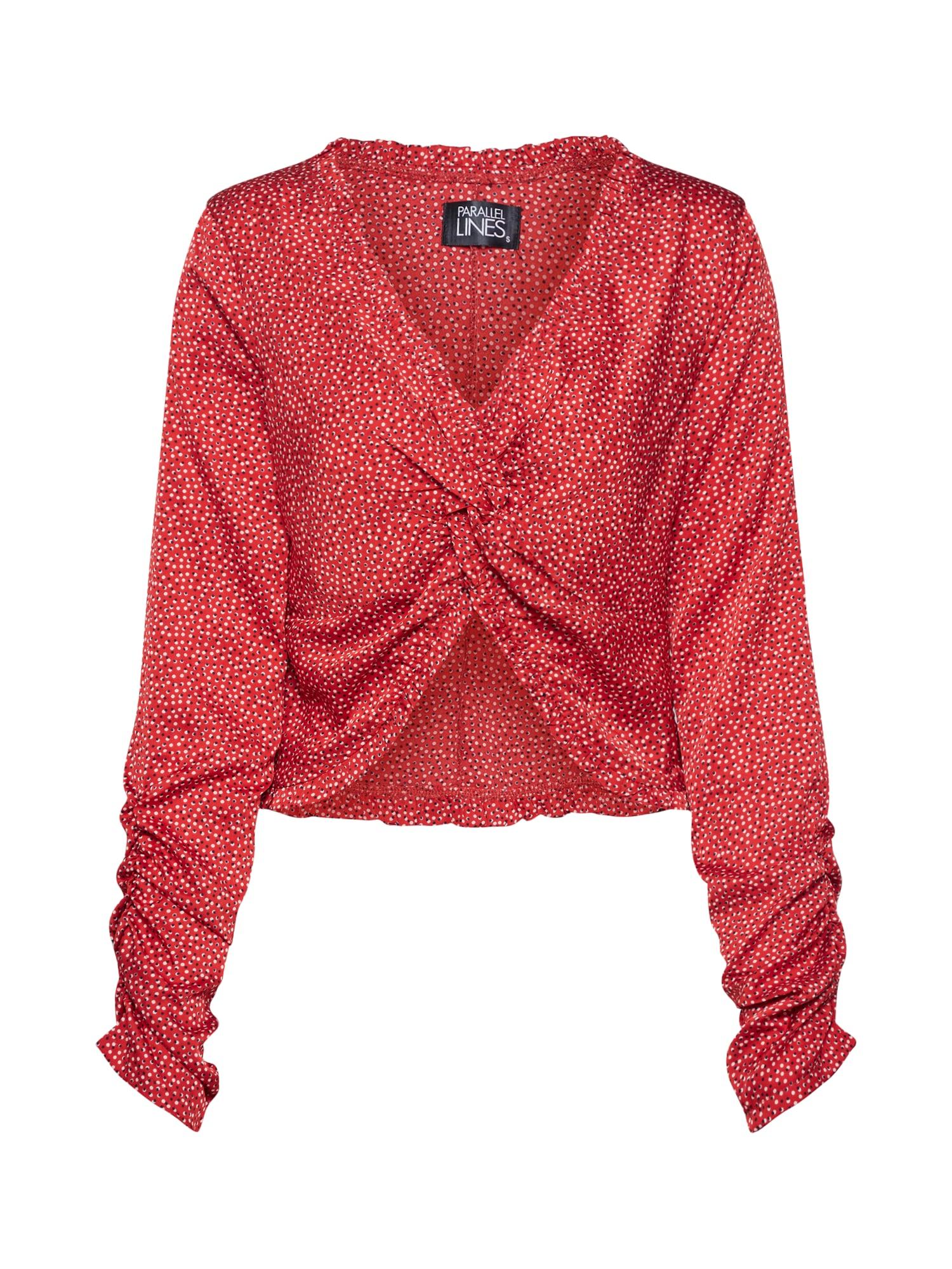 Parallel Lines Marškinėliai raudona