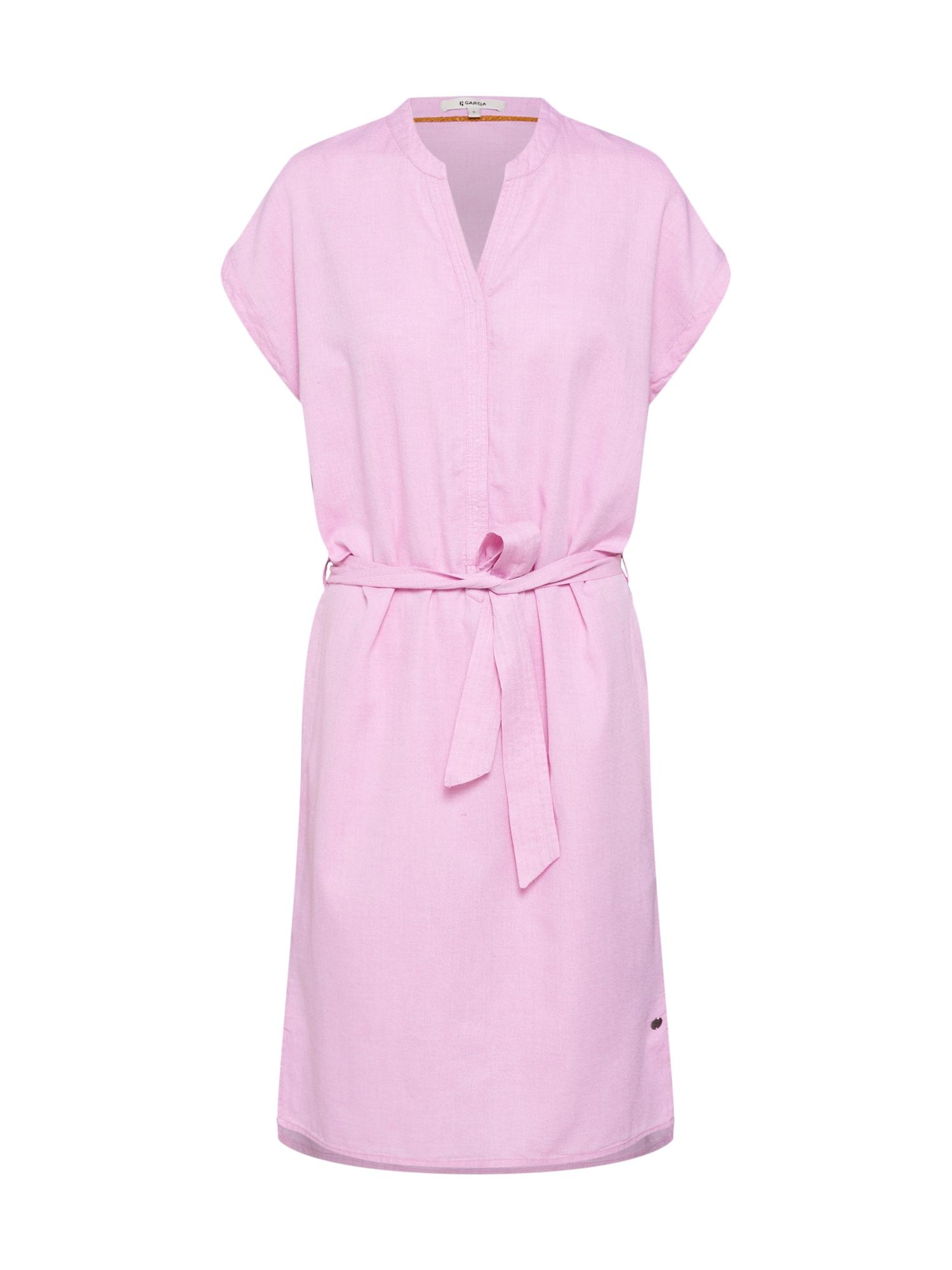 Košilové šaty pink GARCIA