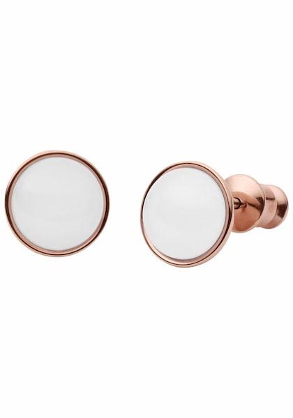 Ohrringe für Frauen - SKAGEN Paar Ohrstecker rosegold weiß  - Onlineshop ABOUT YOU