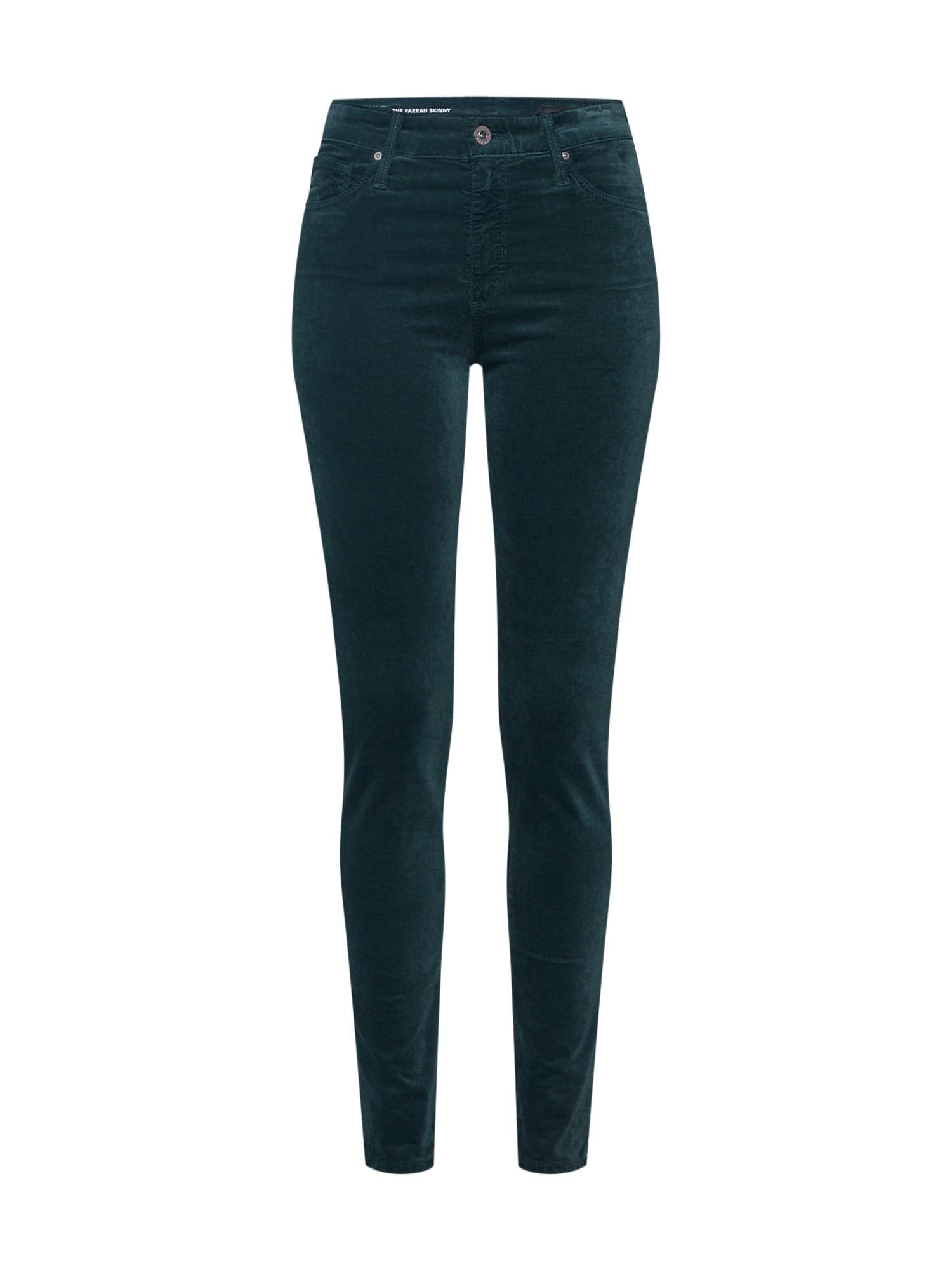 Džíny Farrah tmavě zelená AG Jeans